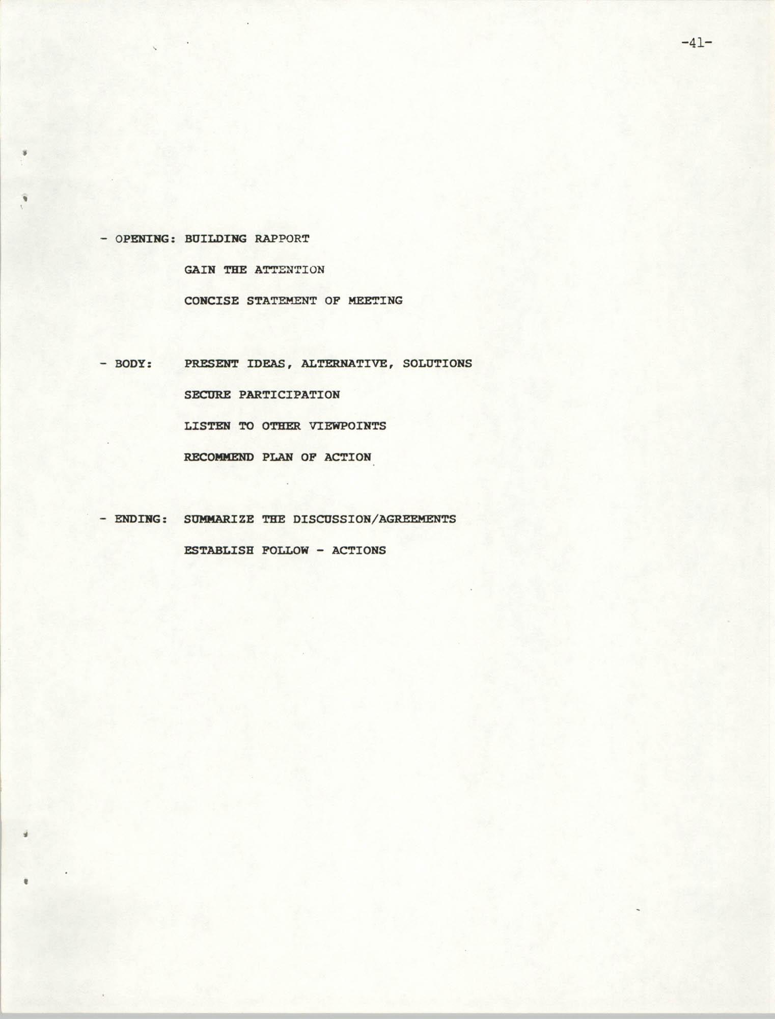 NAACP Mandatory Training Handbook, 1989, Page 41
