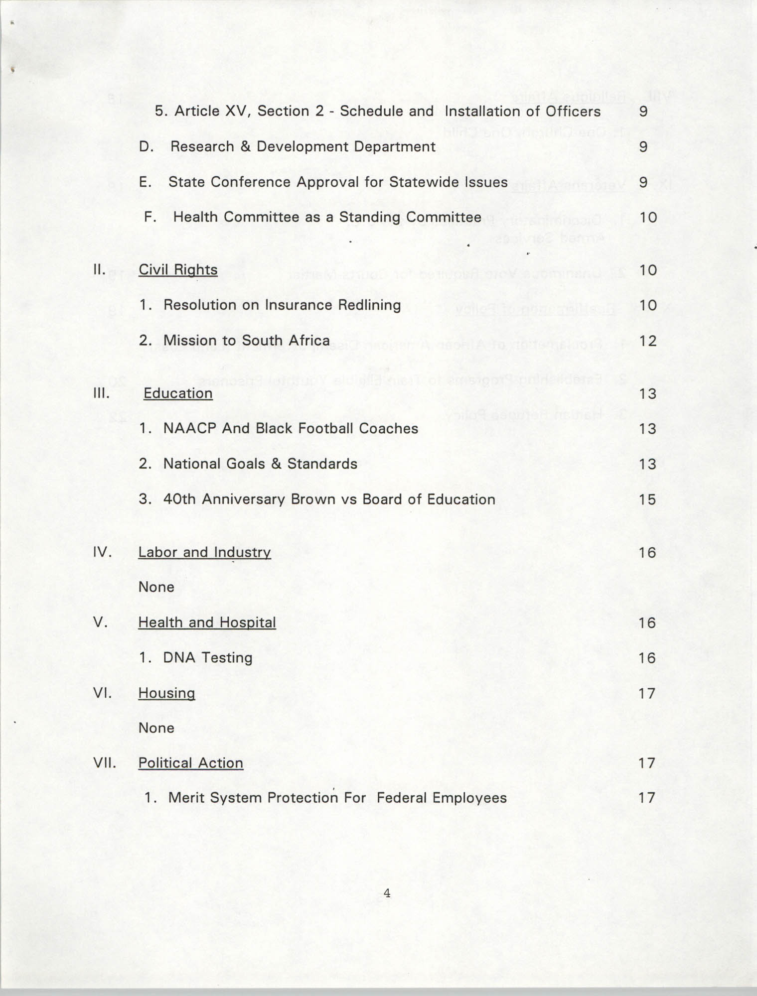 Resolutions Submitted Under Article X, Section 2 of the Constitution of the NAACP, 1994, Page 4