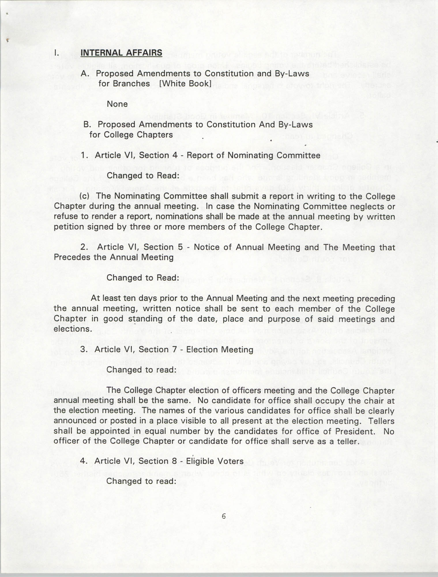 Resolutions Submitted Under Article X, Section 2 of the Constitution of the NAACP, 1994, Page 6