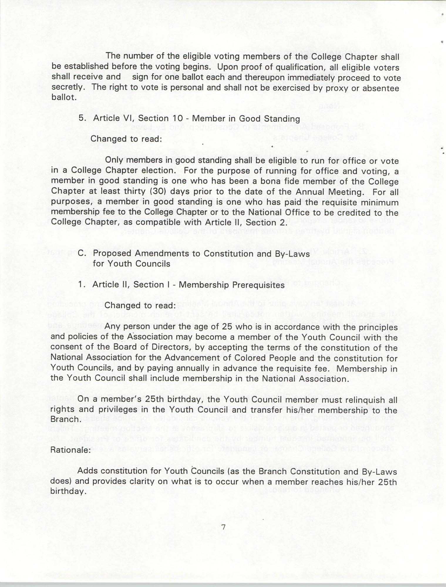 Resolutions Submitted Under Article X, Section 2 of the Constitution of the NAACP, 1994, Page 7