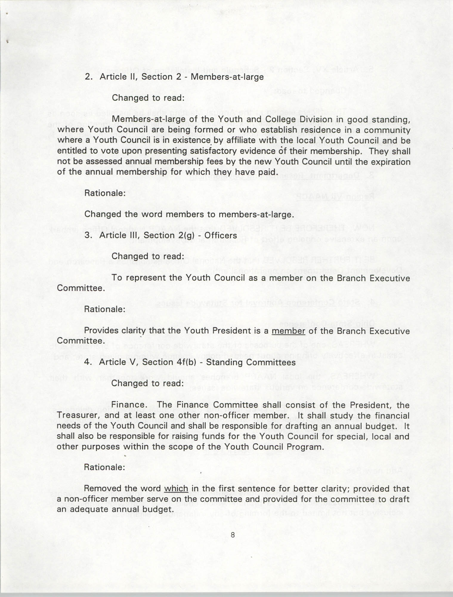 Resolutions Submitted Under Article X, Section 2 of the Constitution of the NAACP, 1994, Page 8