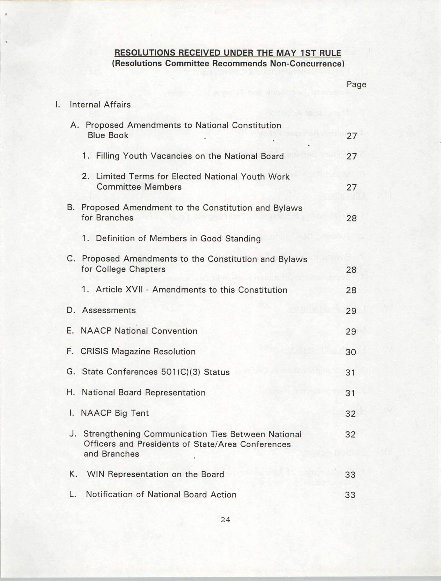Resolutions Submitted Under Article X, Section 2 of the Constitution of the NAACP, 1994, Page 24