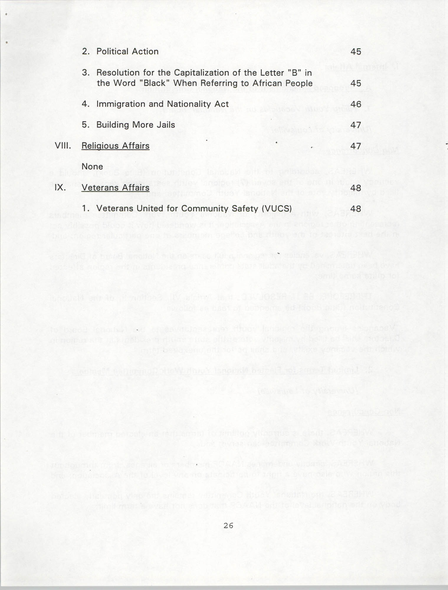Resolutions Submitted Under Article X, Section 2 of the Constitution of the NAACP, 1994, Page 26