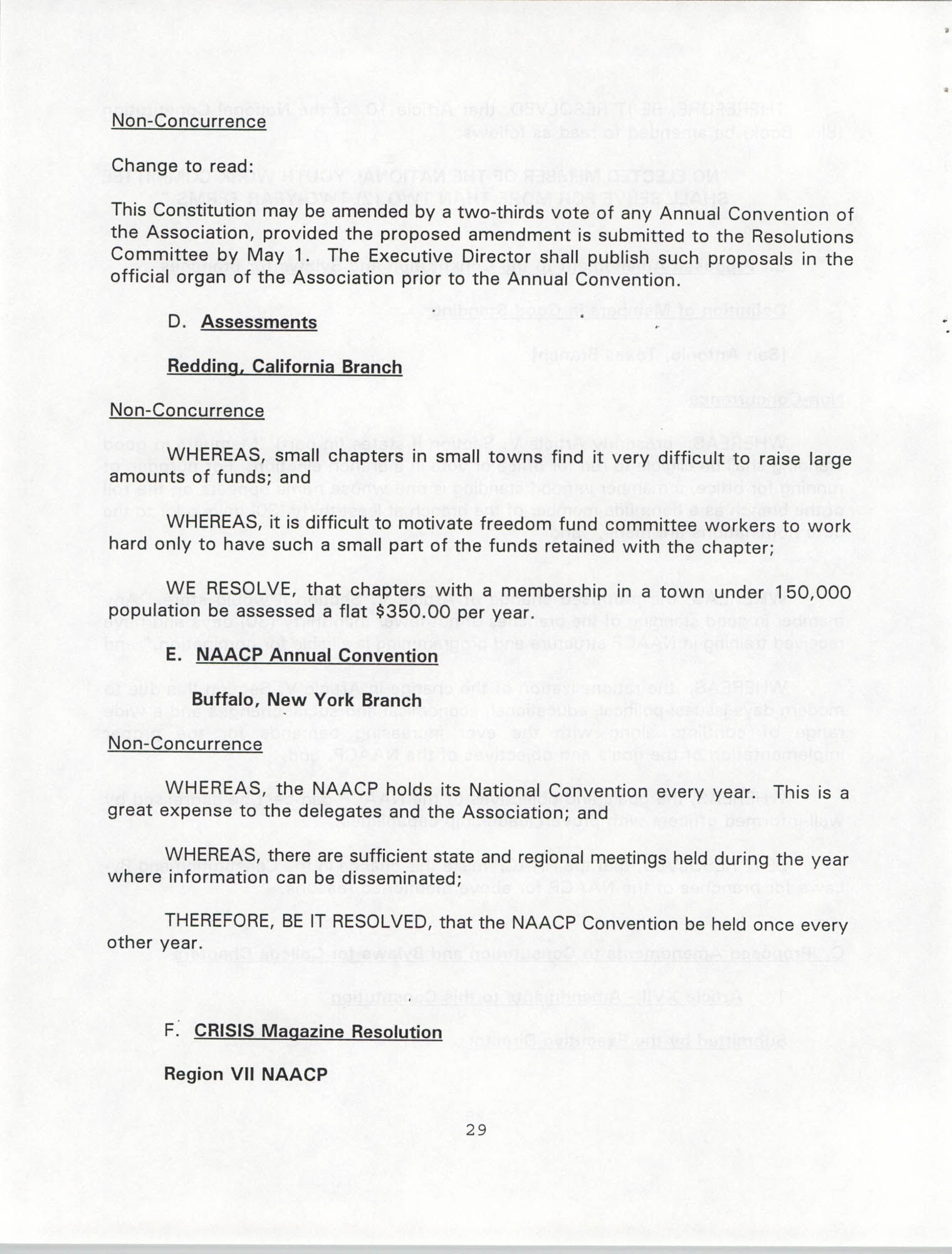 Resolutions Submitted Under Article X, Section 2 of the Constitution of the NAACP, 1994, Page 29