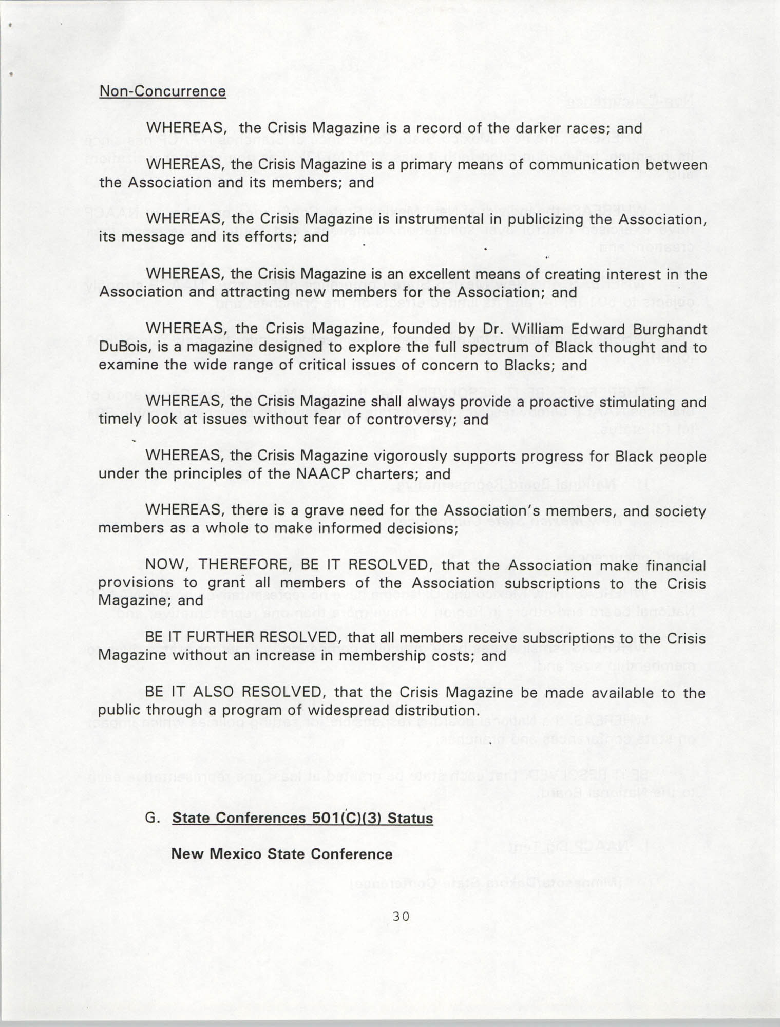 Resolutions Submitted Under Article X, Section 2 of the Constitution of the NAACP, 1994, Page 30