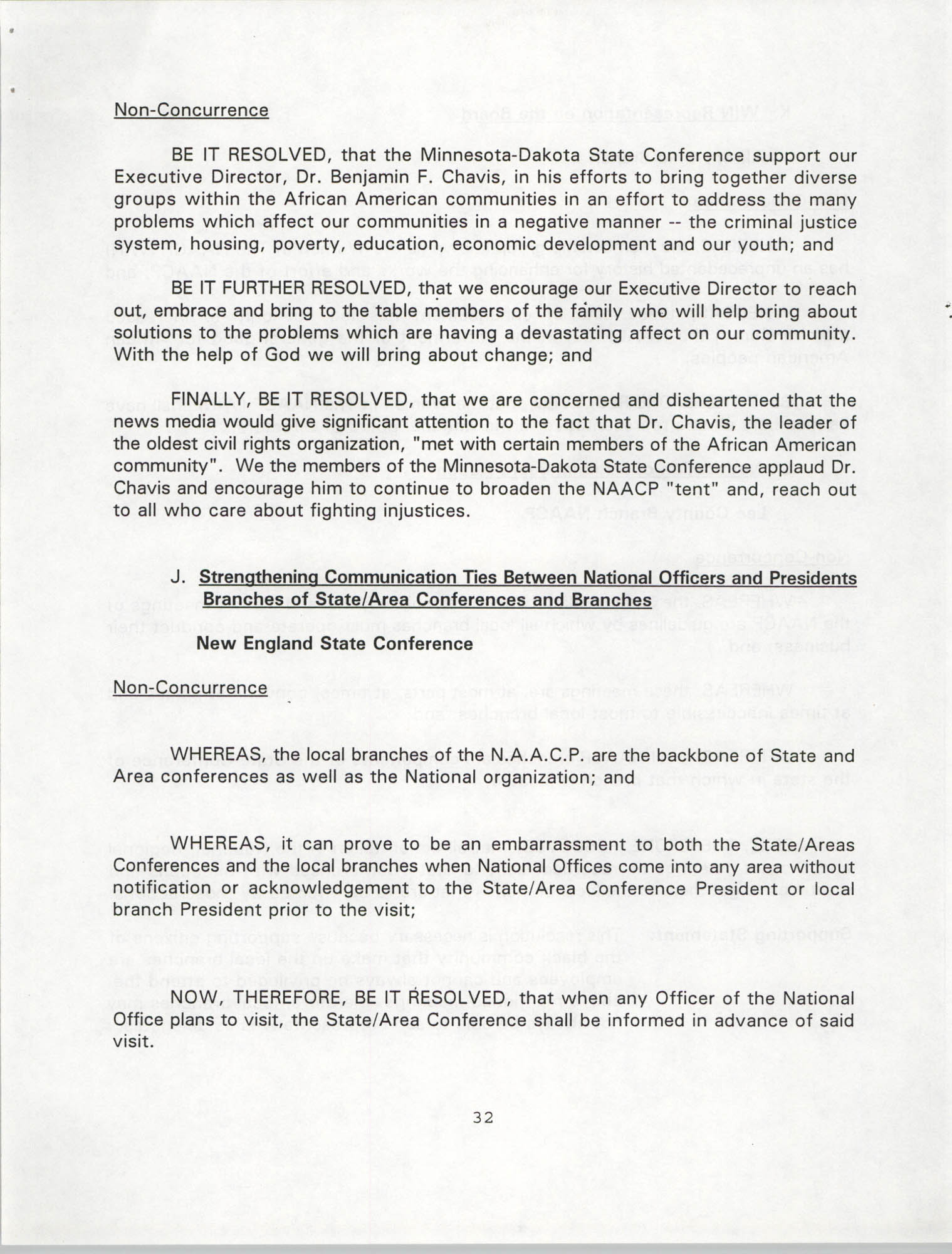 Resolutions Submitted Under Article X, Section 2 of the Constitution of the NAACP, 1994, Page 32