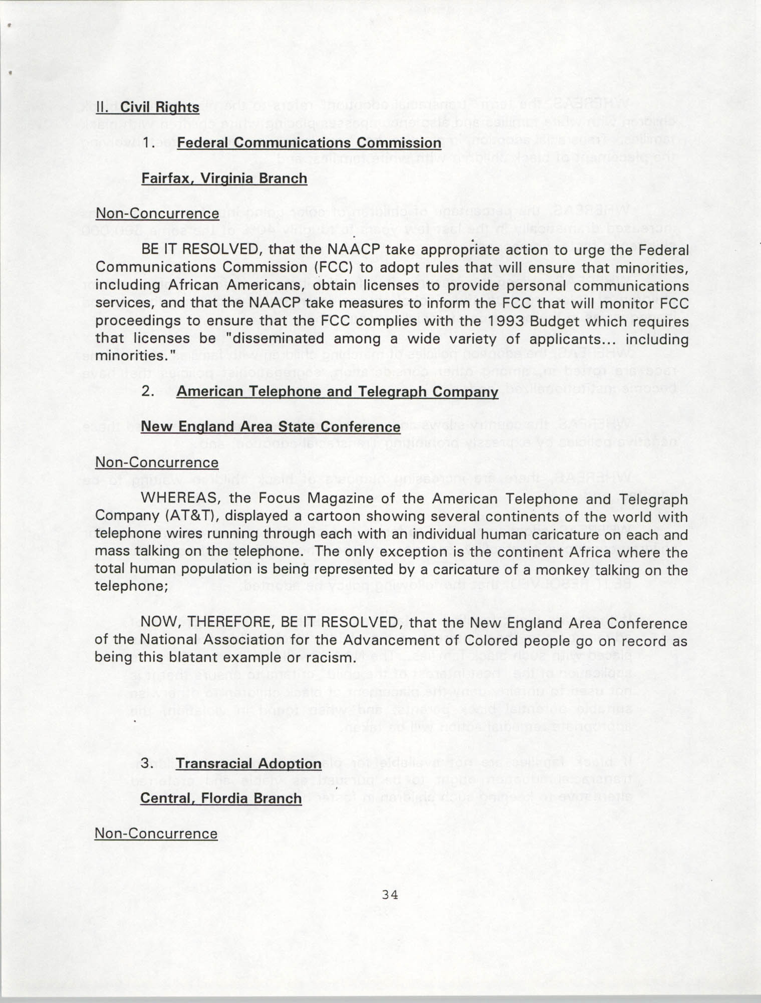 Resolutions Submitted Under Article X, Section 2 of the Constitution of the NAACP, 1994, Page 34