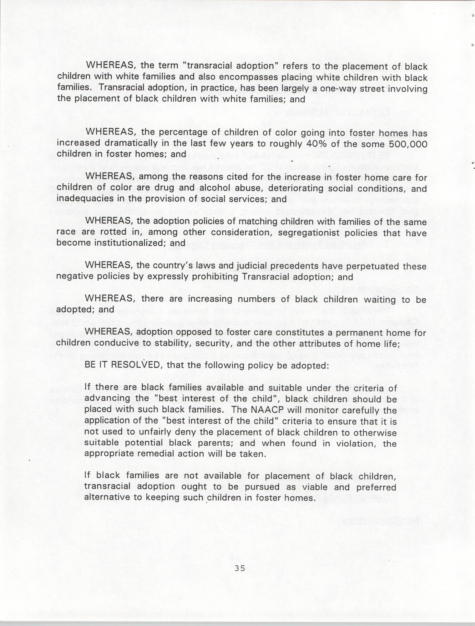 Resolutions Submitted Under Article X, Section 2 of the Constitution of the NAACP, 1994, Page 35