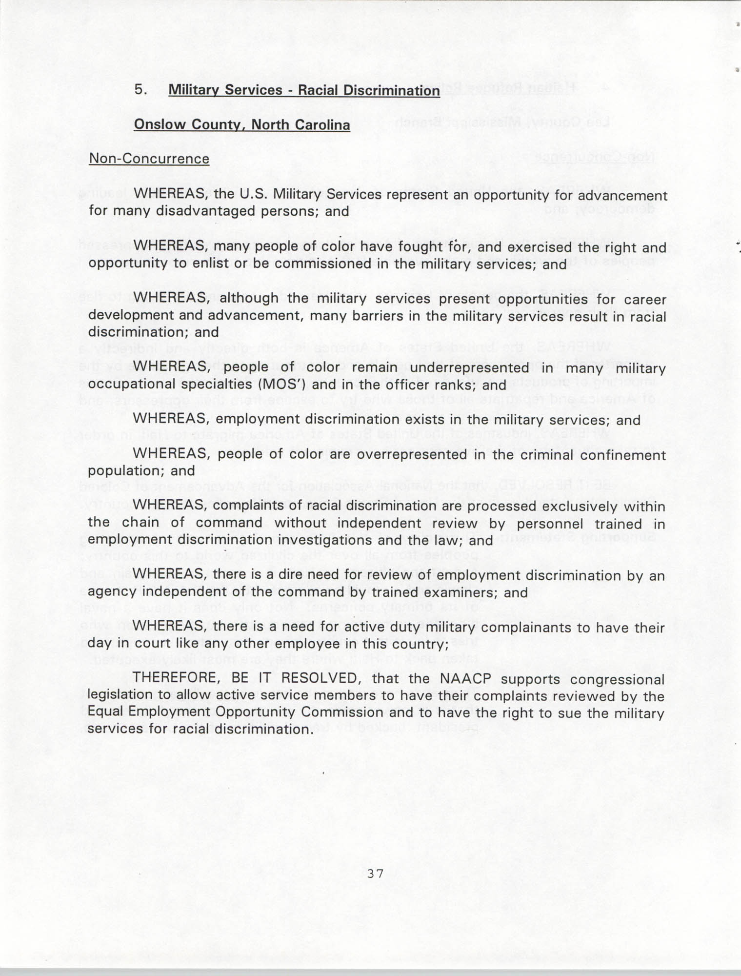 Resolutions Submitted Under Article X, Section 2 of the Constitution of the NAACP, 1994, Page 37