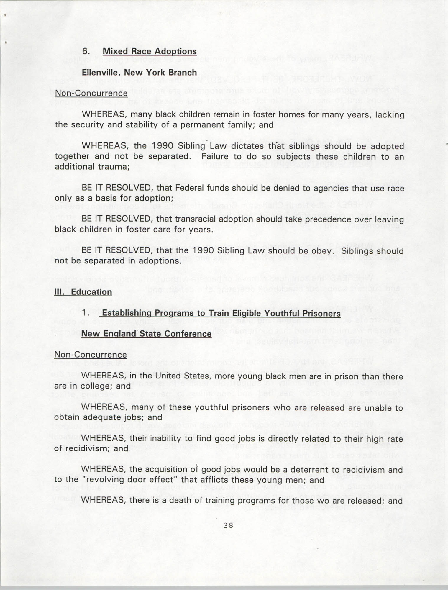 Resolutions Submitted Under Article X, Section 2 of the Constitution of the NAACP, 1994, Page 38