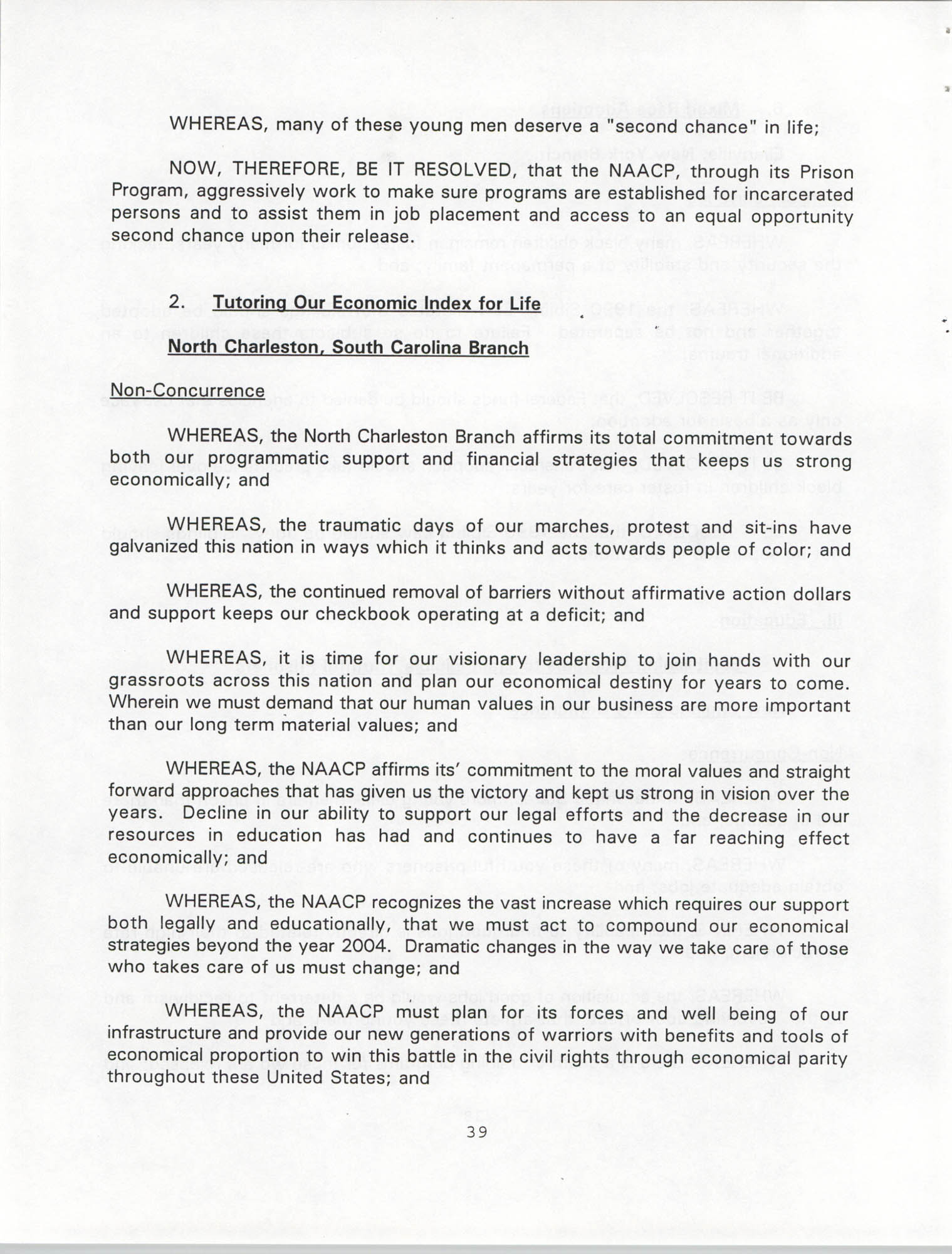 Resolutions Submitted Under Article X, Section 2 of the Constitution of the NAACP, 1994, Page 39