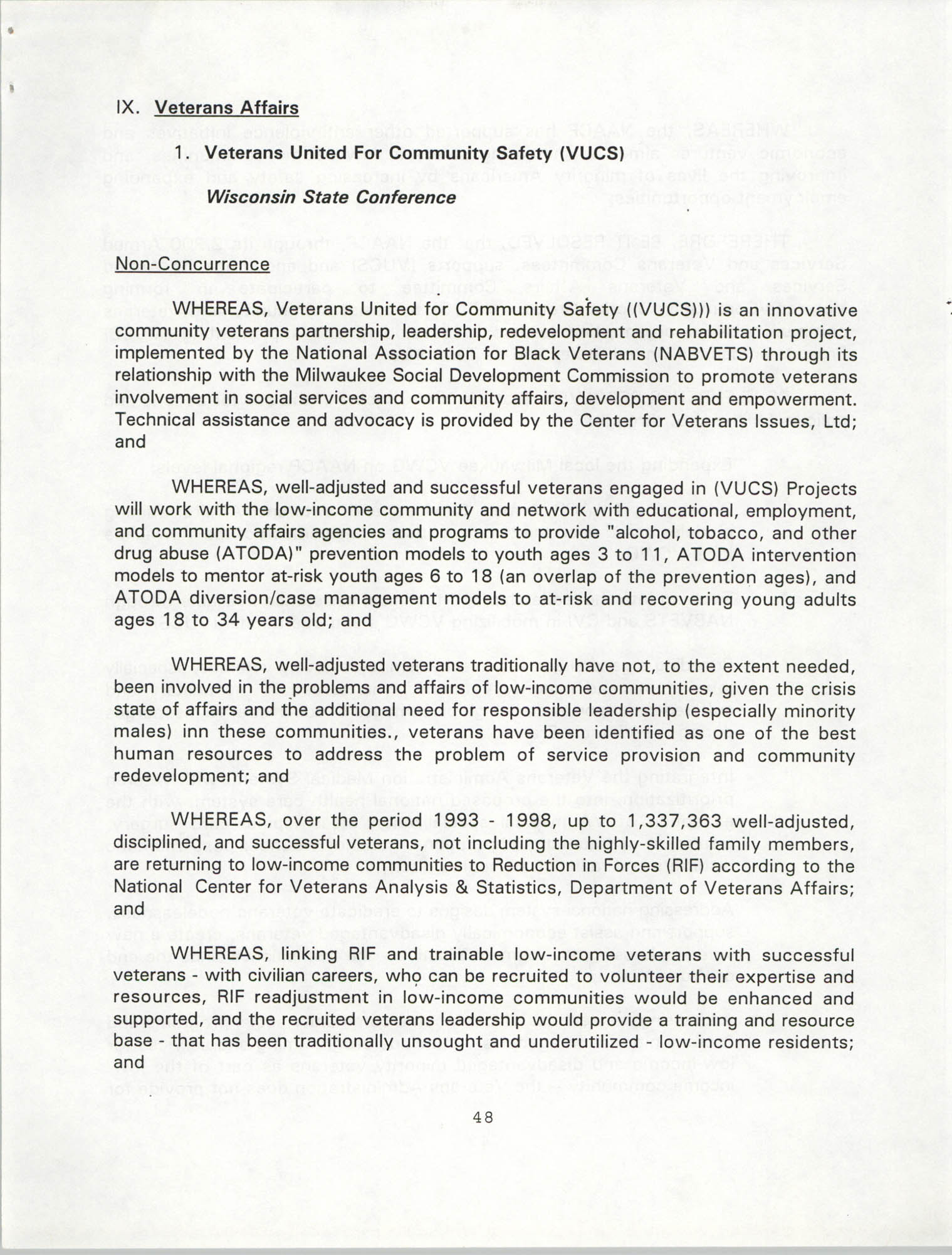 Resolutions Submitted Under Article X, Section 2 of the Constitution of the NAACP, 1994, Page 48