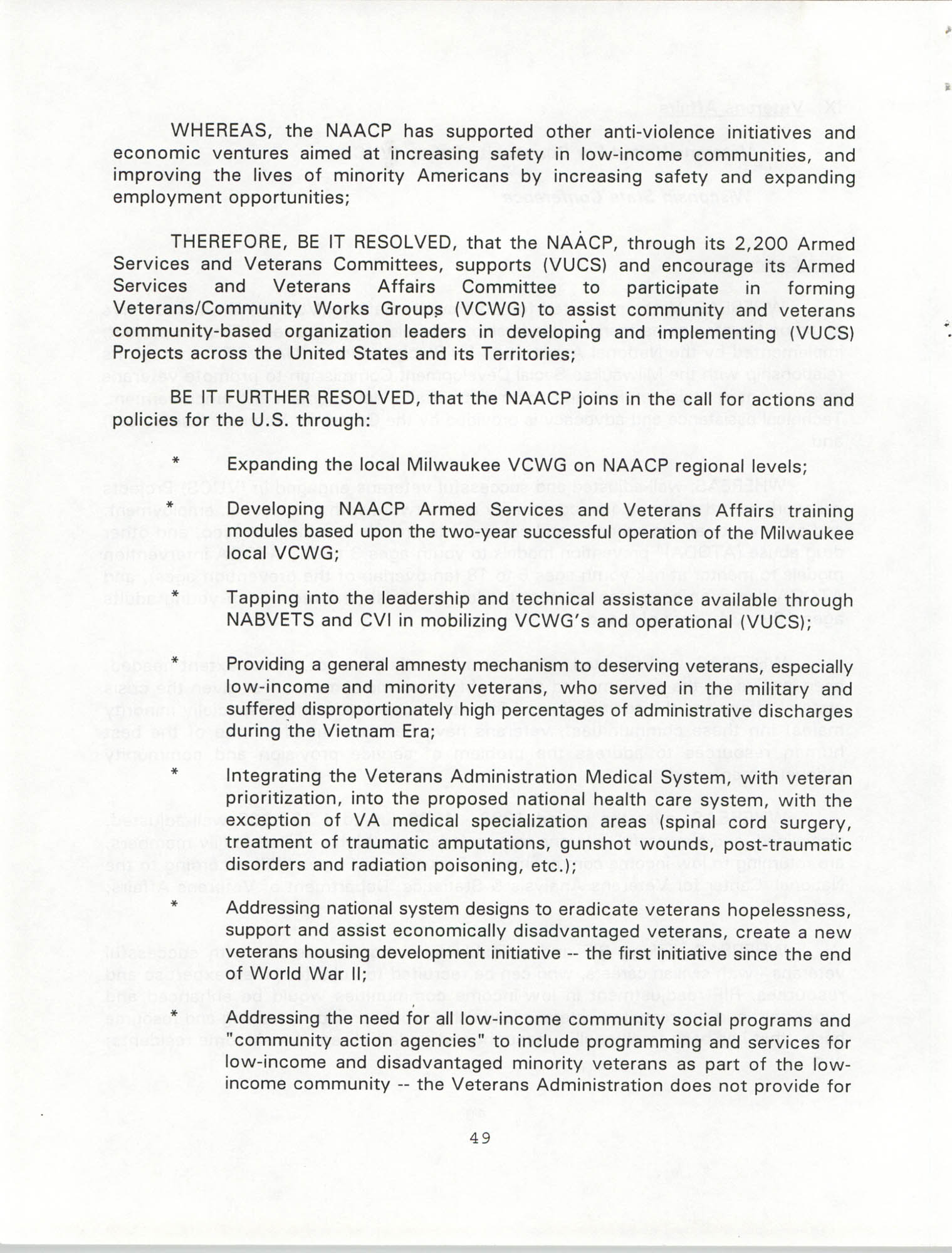 Resolutions Submitted Under Article X, Section 2 of the Constitution of the NAACP, 1994, Page 49