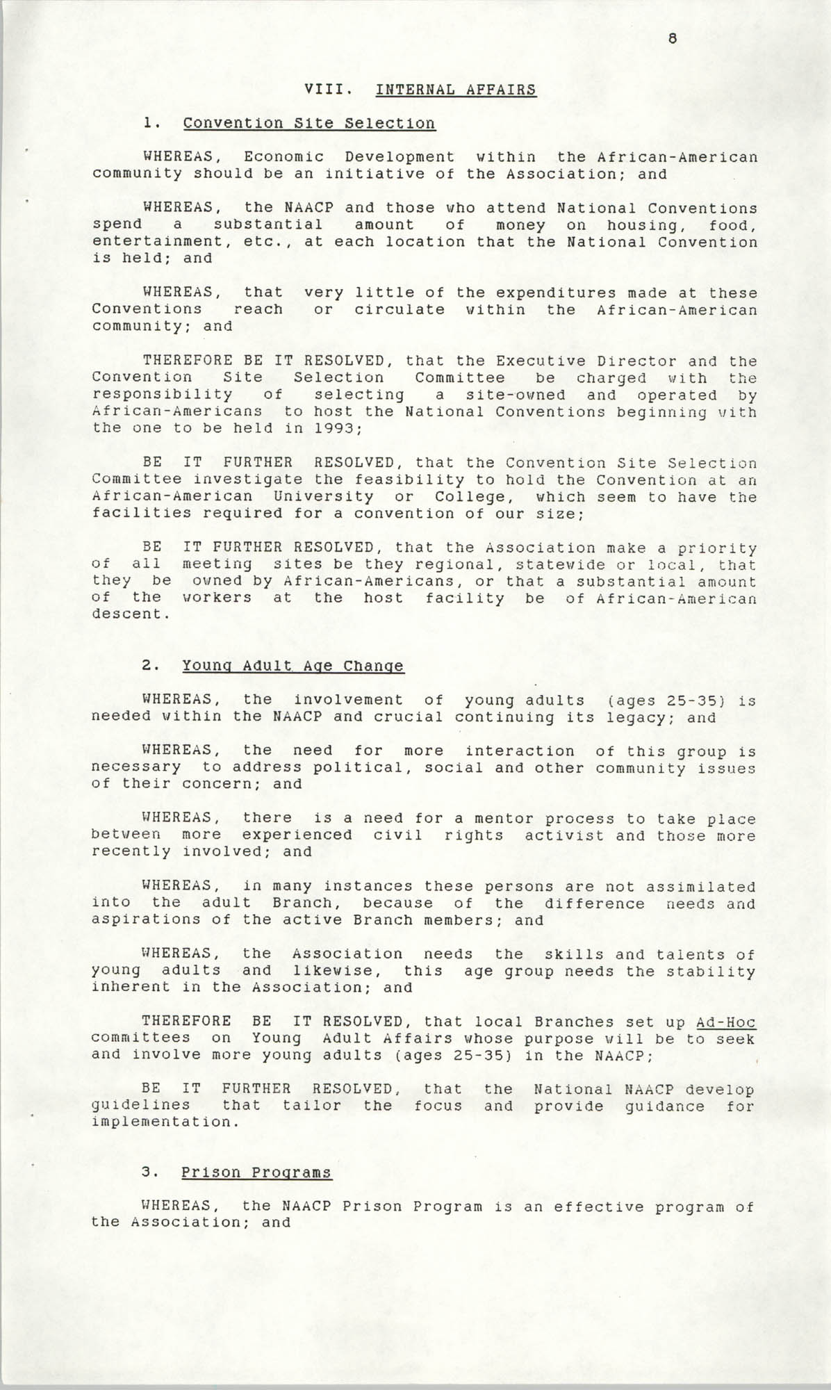 Resolutions Submitted Under Article X, Section 2 of the Constitution of the NAACP, 1990, Page 8