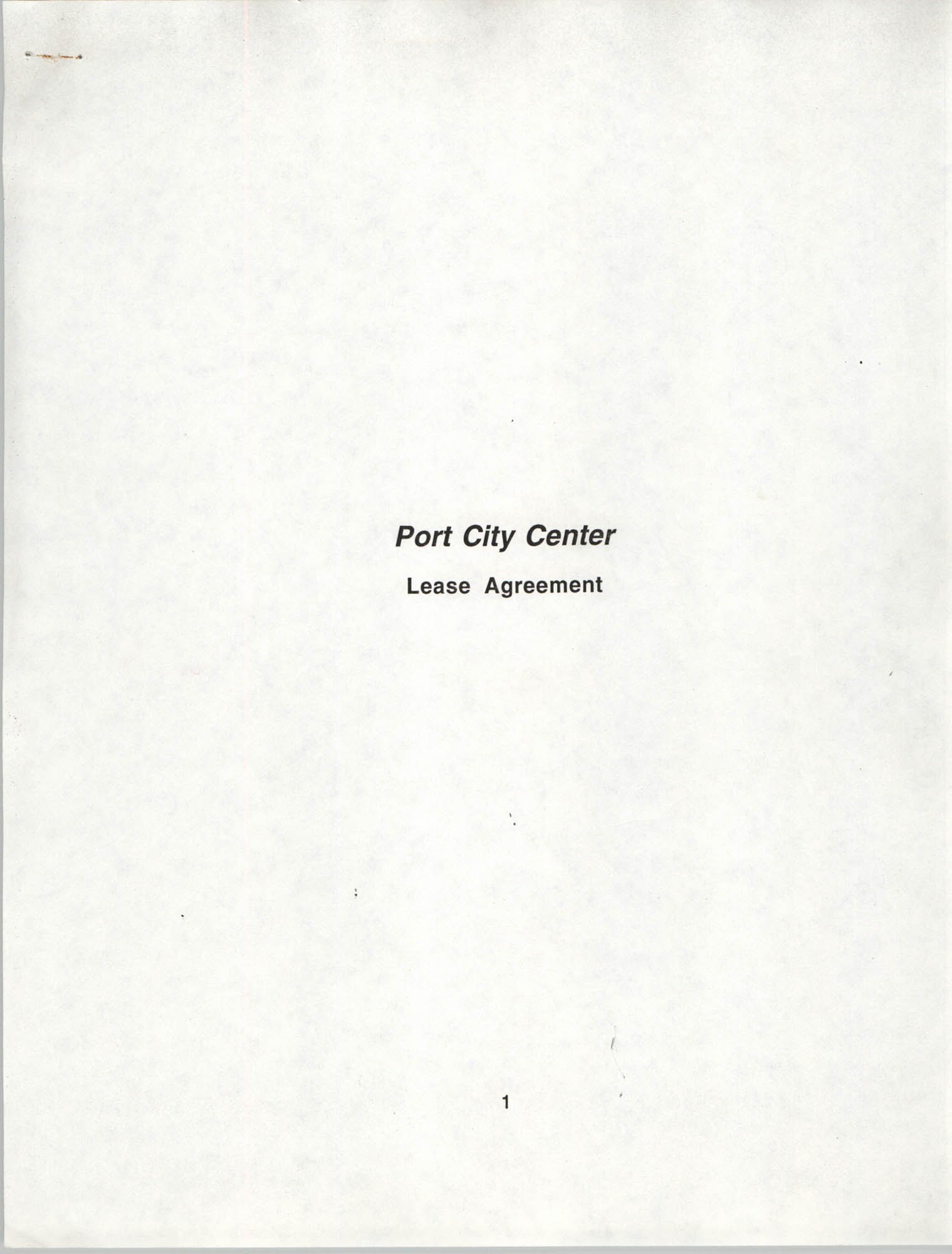 Charleston Branch of the NAACP Leasing Agreement, July 1994 to June 1995, Cover