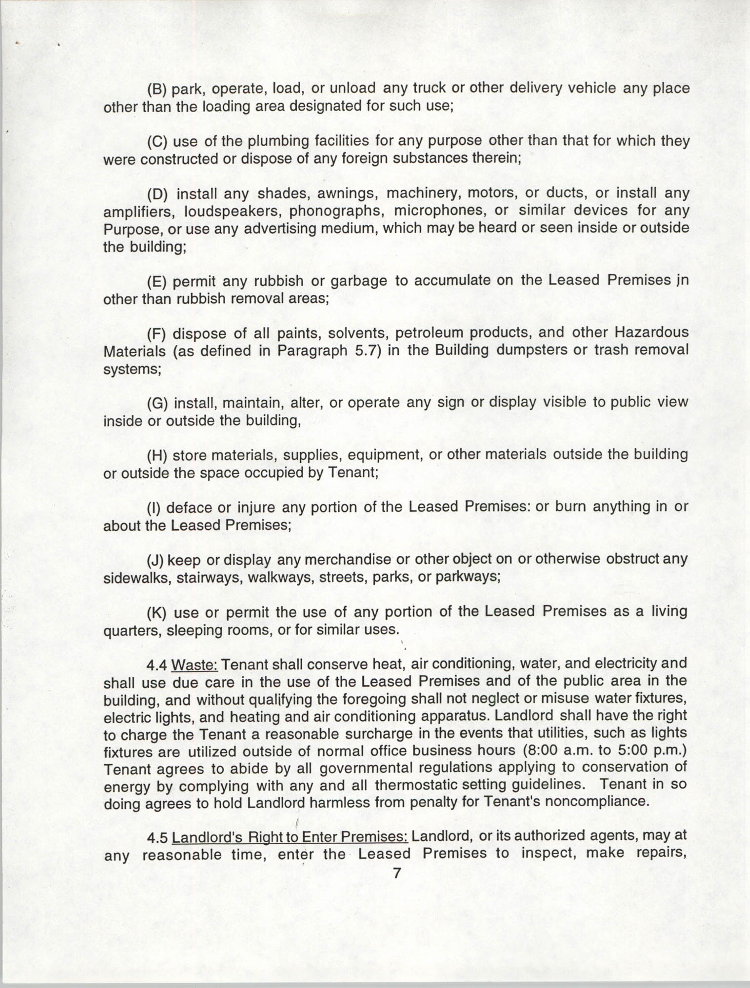Charleston Branch of the NAACP Leasing Agreement, July 1994 to June 1995, Page 7