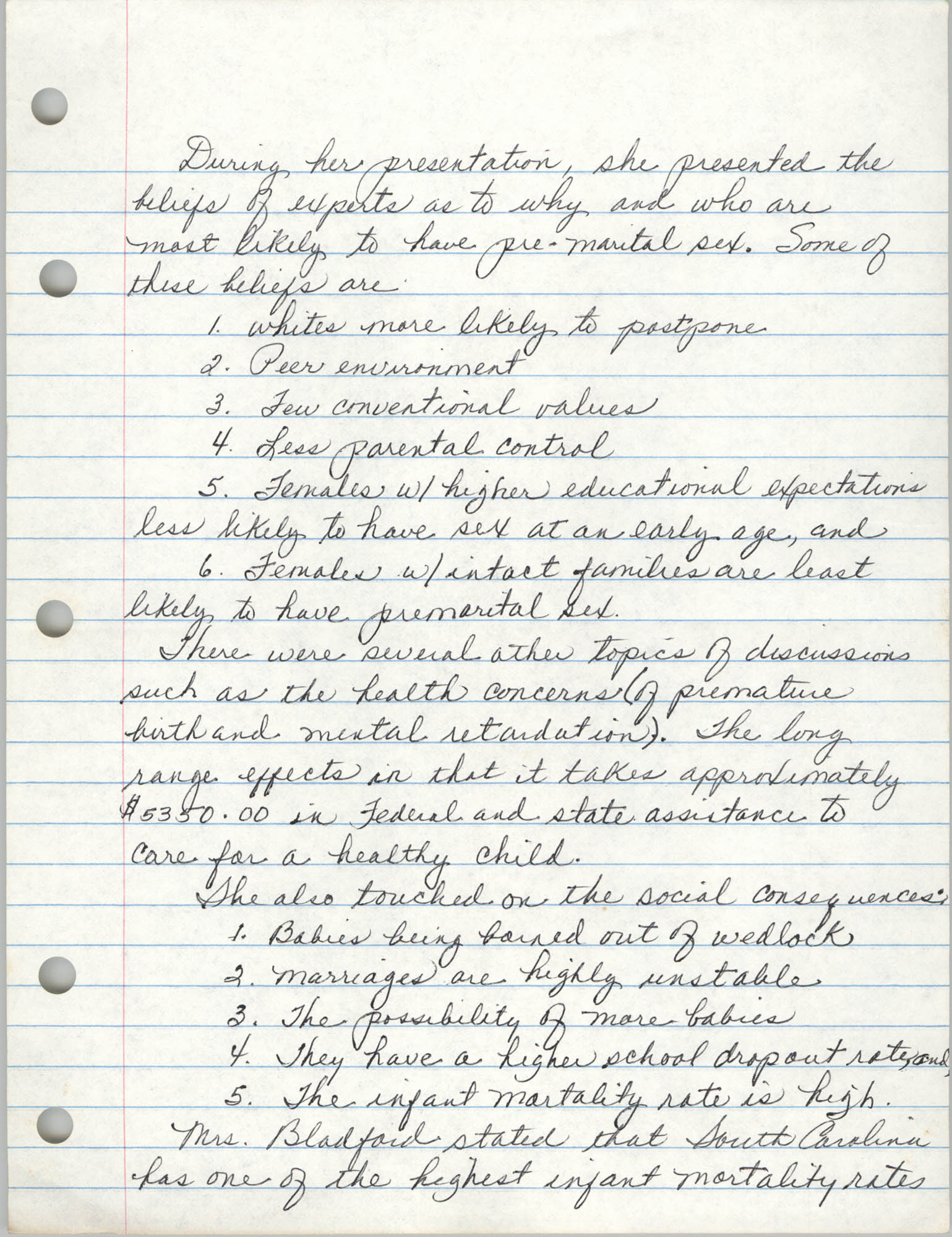 Minutes, Charleston Branch of the NAACP, General Membership Meeting, April 24, 1986, Page 2