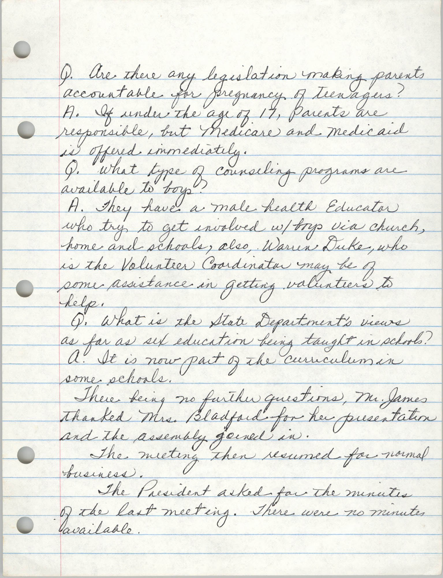 Minutes, Charleston Branch of the NAACP, General Membership Meeting, April 24, 1986, Page 4