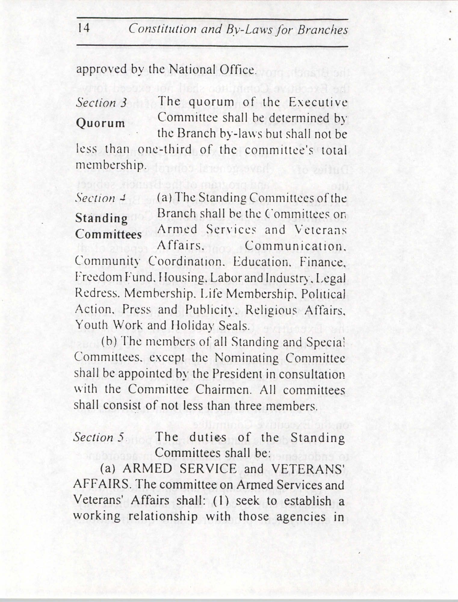 Constitution and By-Laws for Branches of the NAACP, July 1994, Page 14