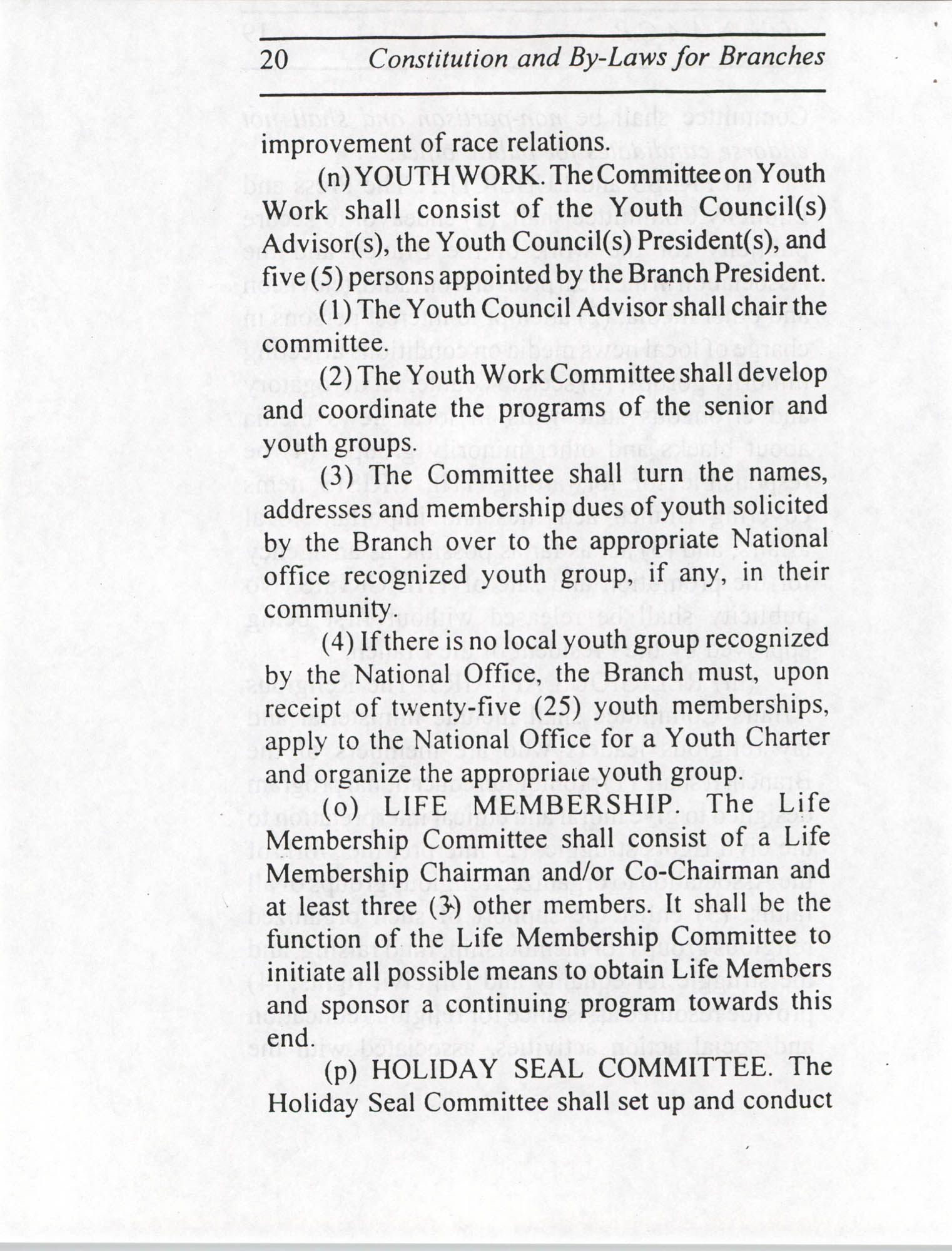 Constitution and By-Laws for Branches of the NAACP, July 1994, Page 20