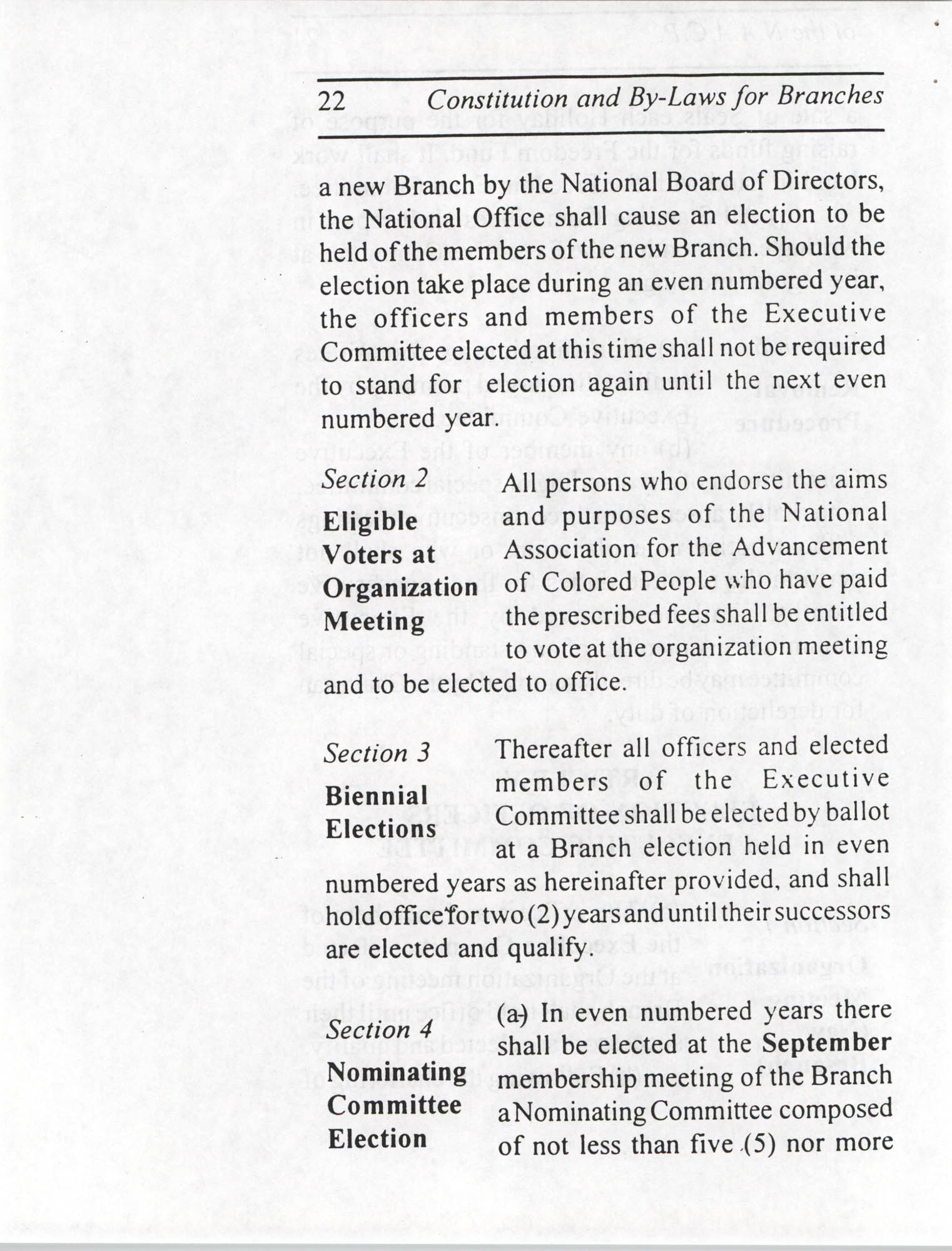 Constitution and By-Laws for Branches of the NAACP, July 1994, Page 22