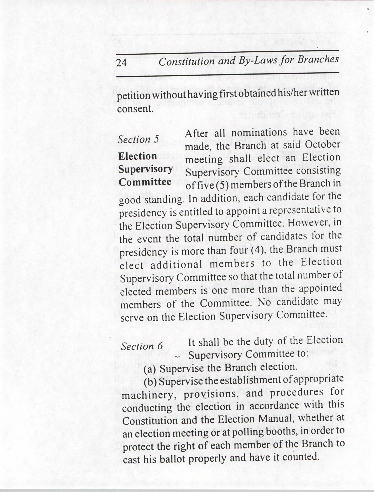 Constitution and By-Laws for Branches of the NAACP, July 1994, Page 24