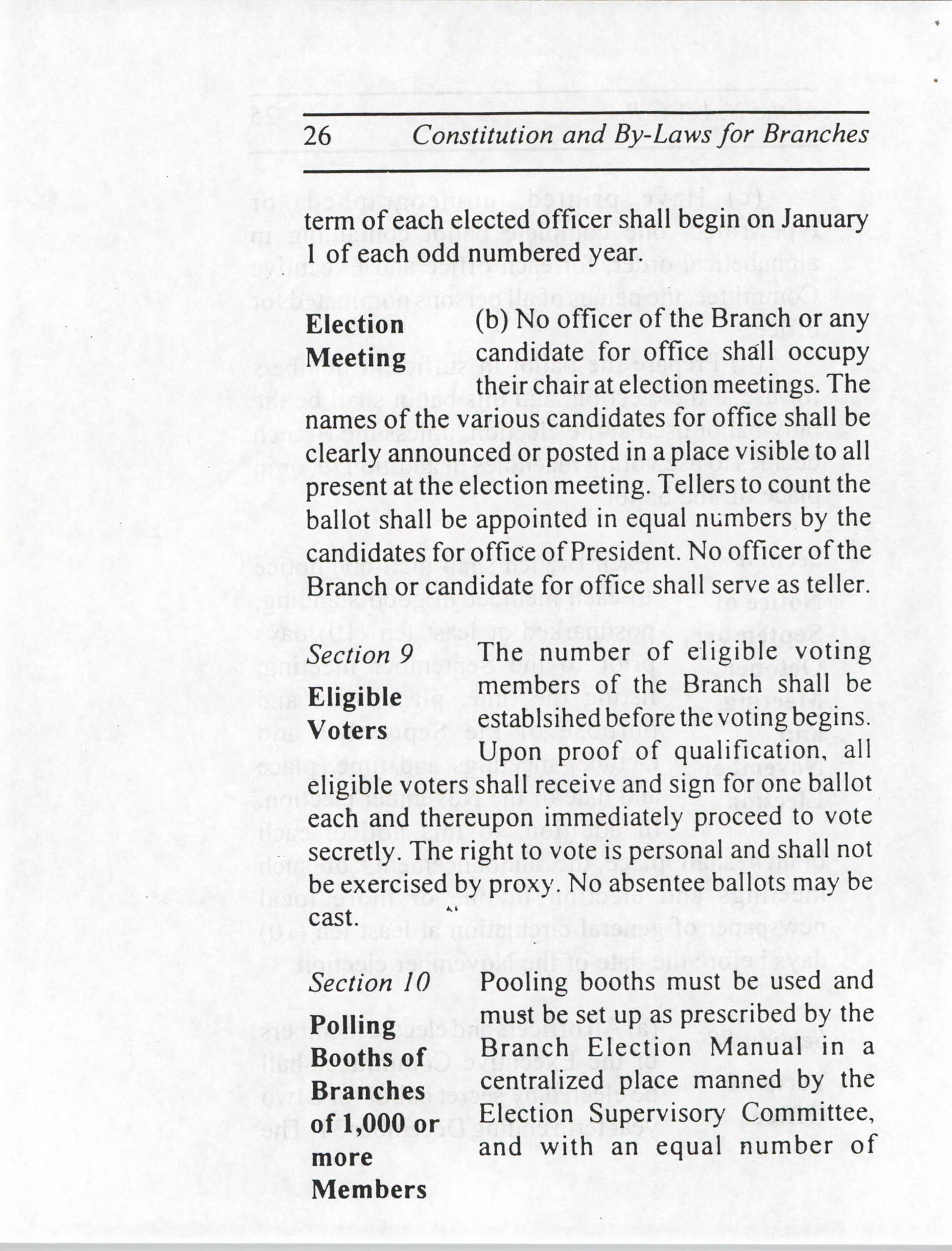 Constitution and By-Laws for Branches of the NAACP, July 1994, Page 26