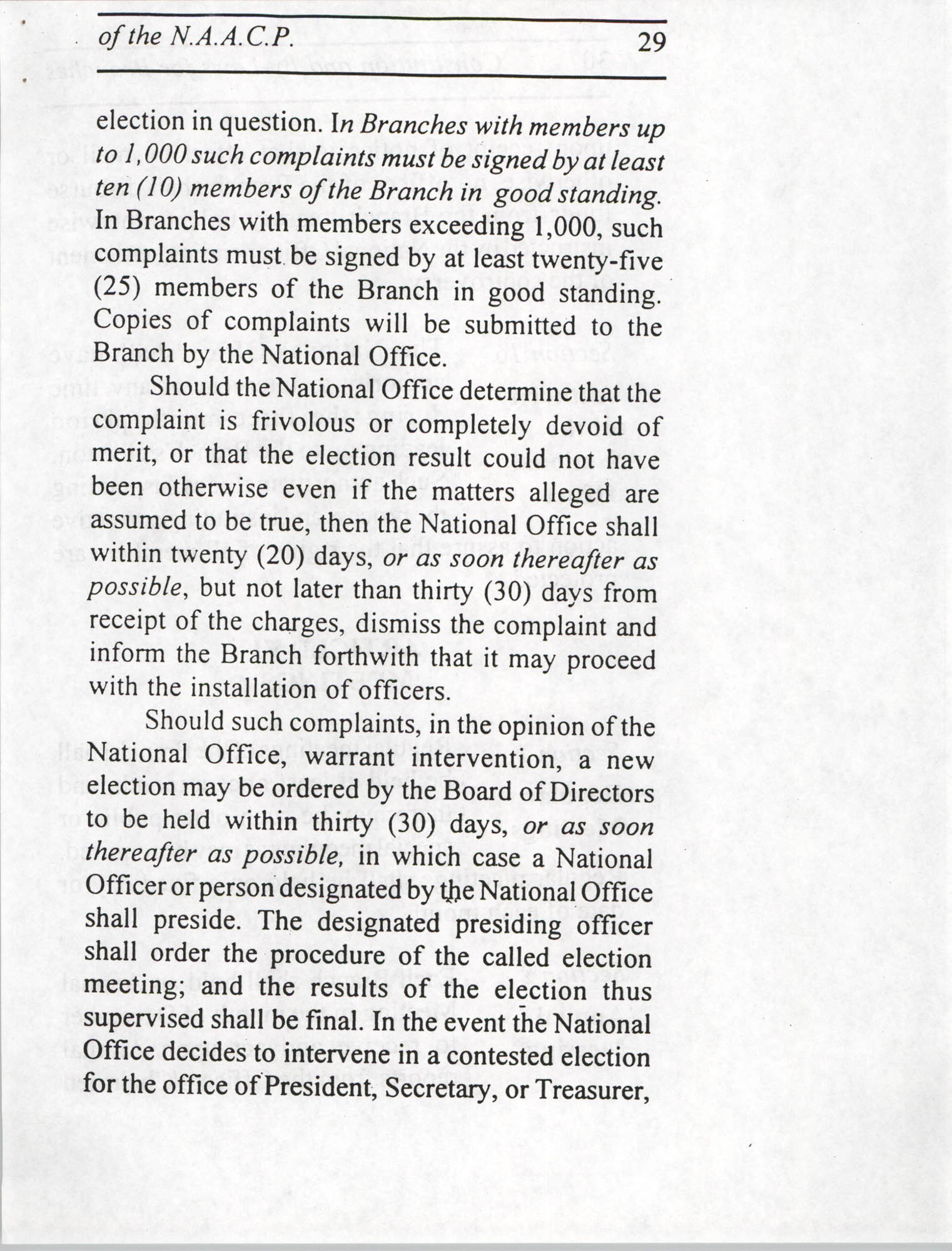 Constitution and By-Laws for Branches of the NAACP, July 1994, Page 29