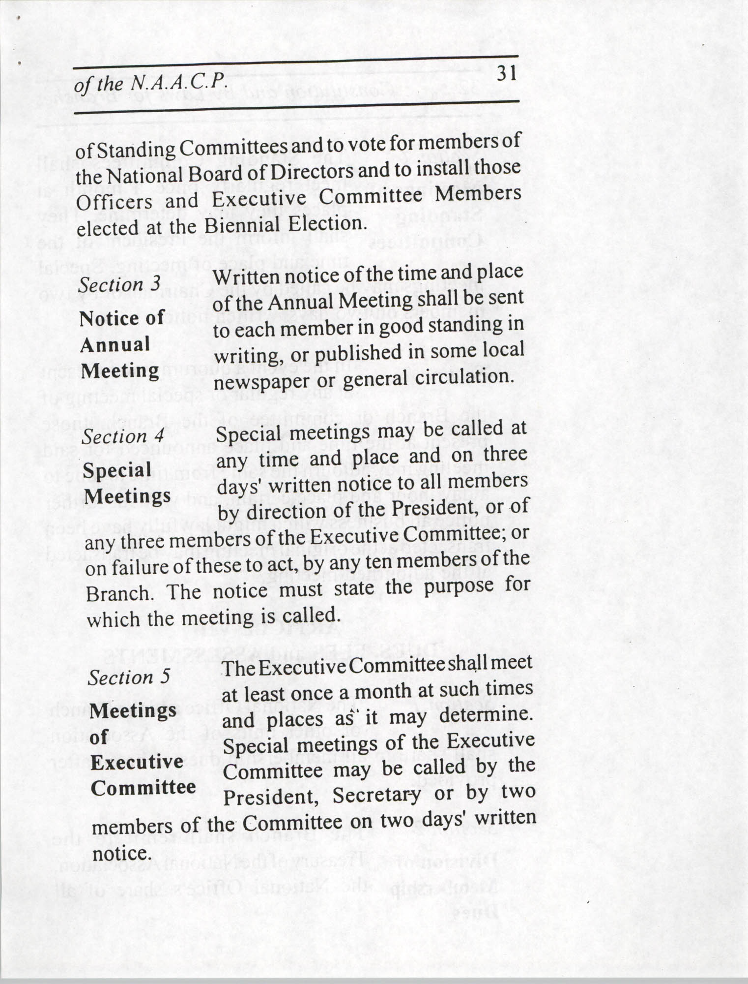 Constitution and By-Laws for Branches of the NAACP, July 1994, Page 31