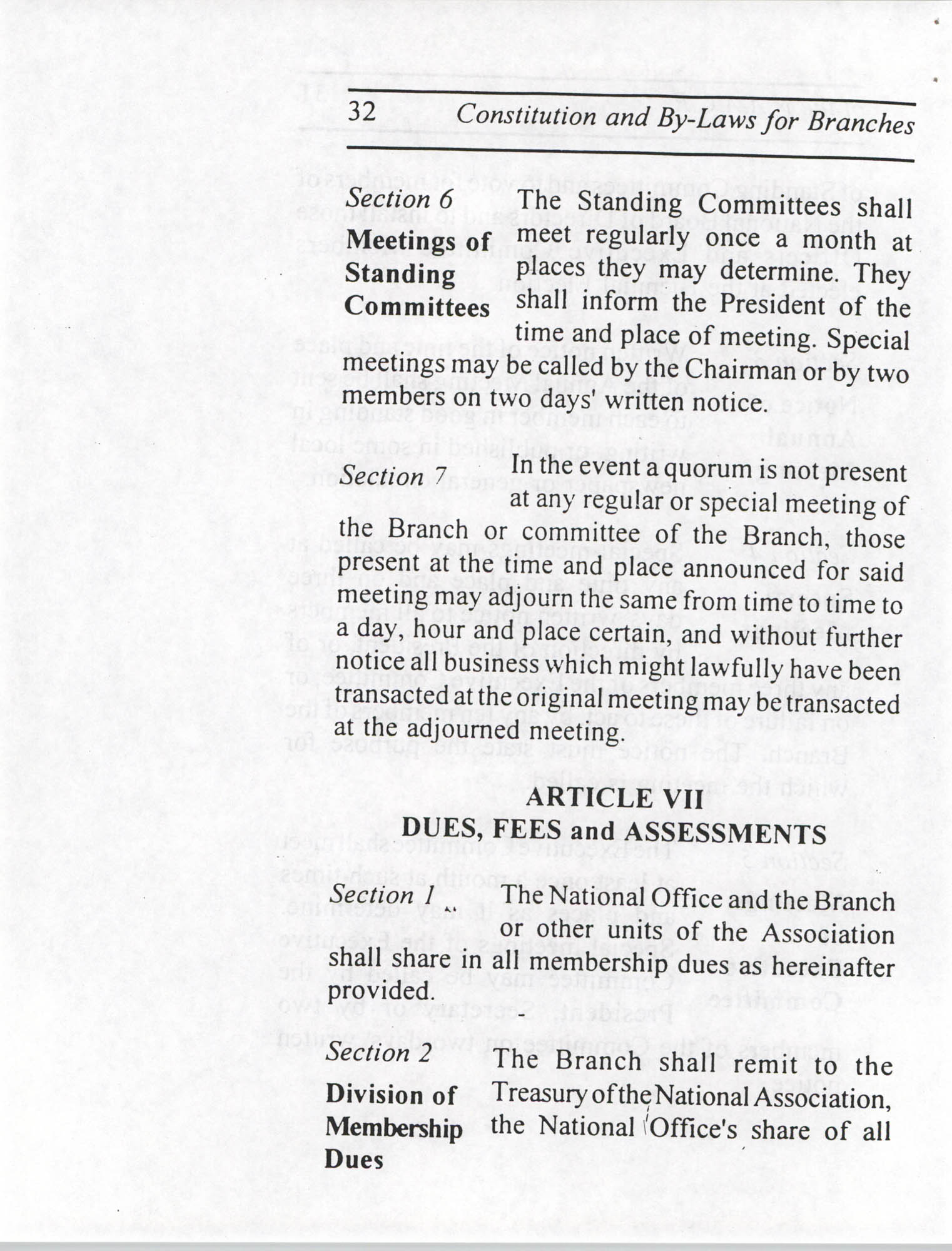 Constitution and By-Laws for Branches of the NAACP, July 1994, Page 32