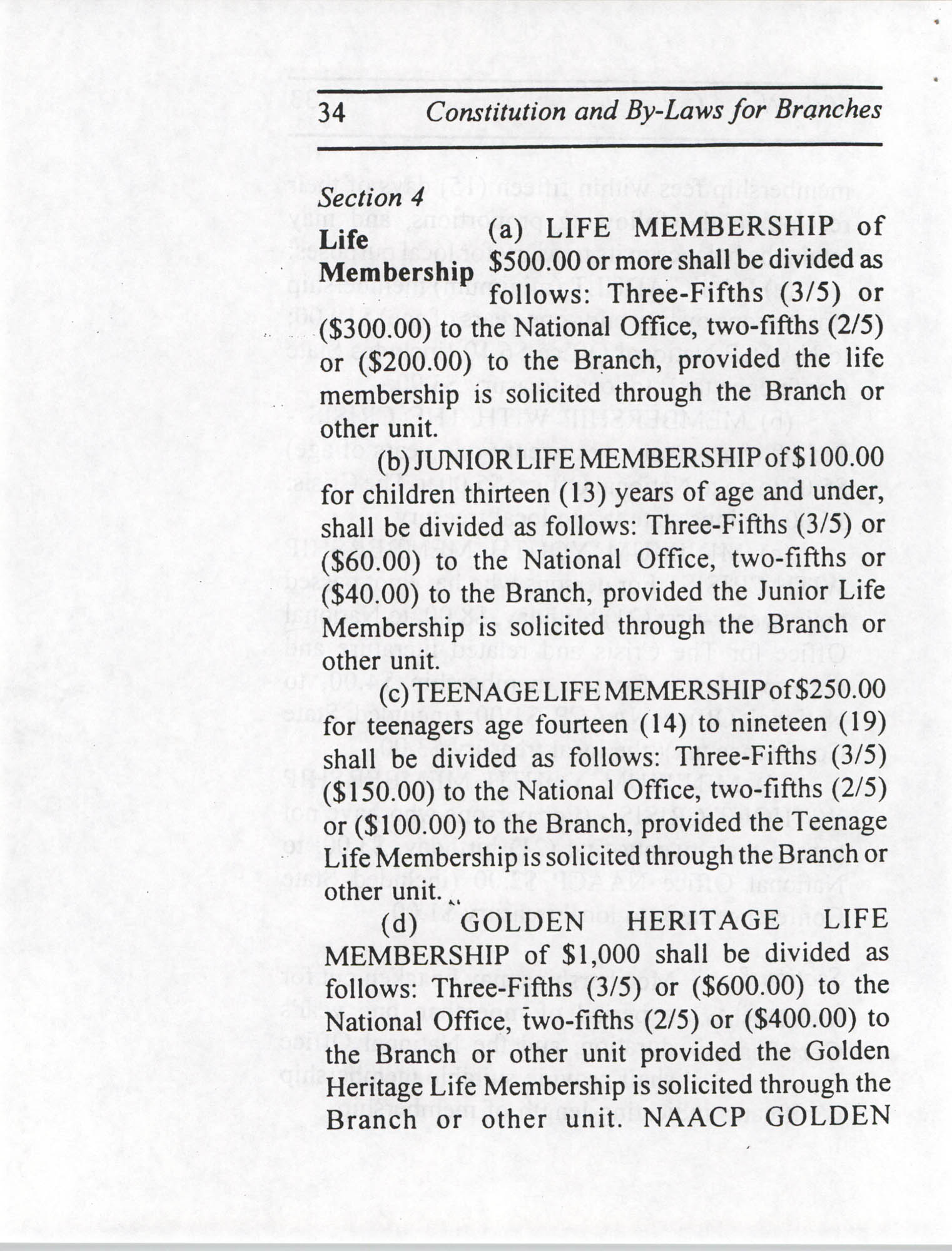 Constitution and By-Laws for Branches of the NAACP, July 1994, Page 34