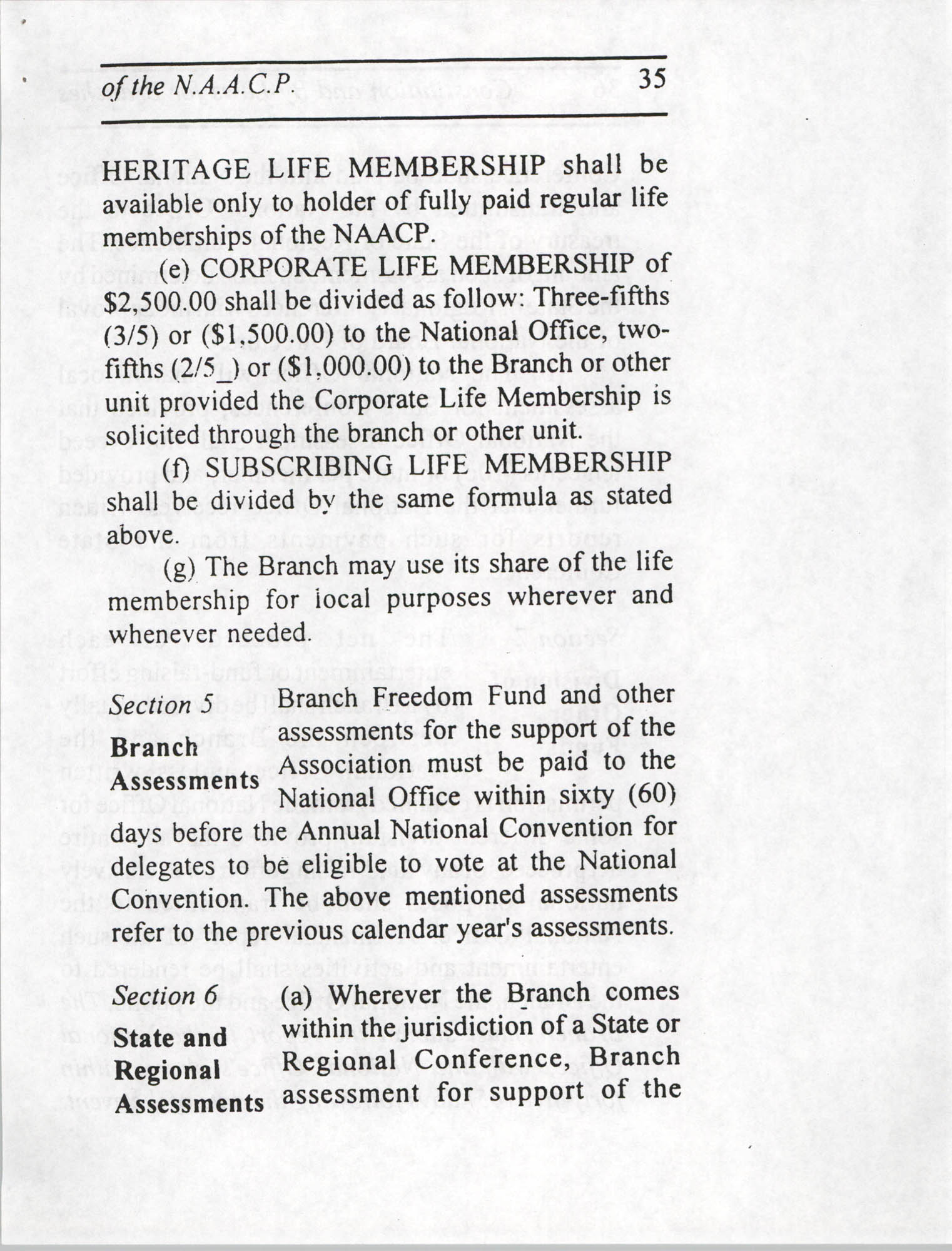Constitution and By-Laws for Branches of the NAACP, July 1994, Page 35