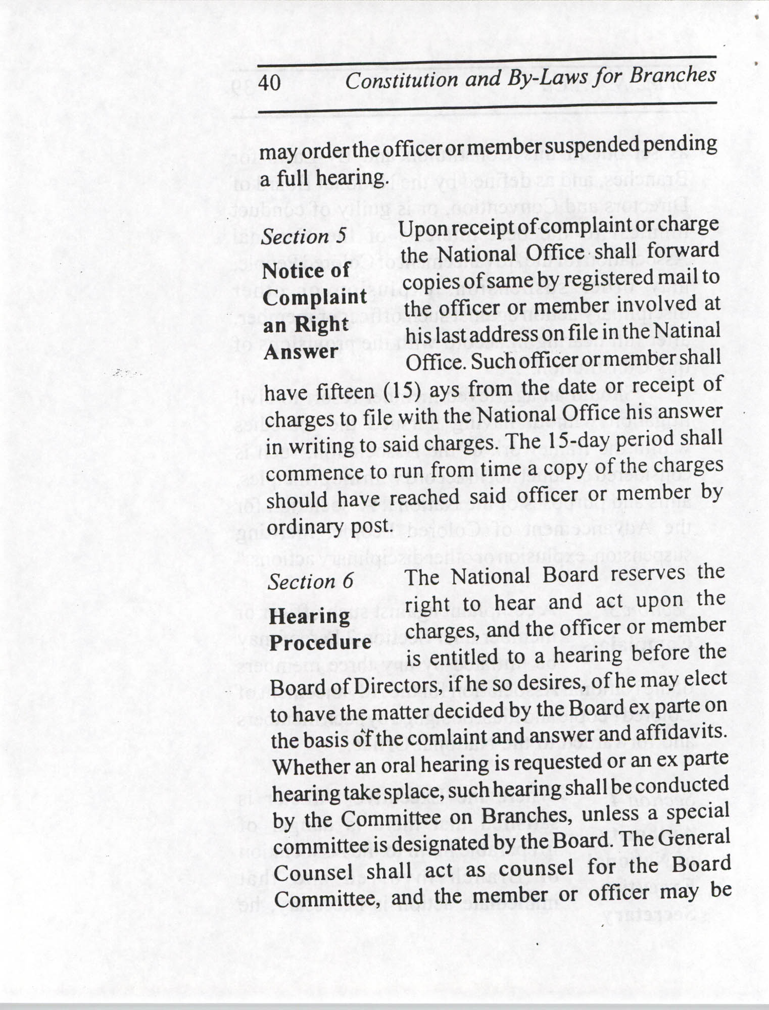 Constitution and By-Laws for Branches of the NAACP, July 1994, Page 40