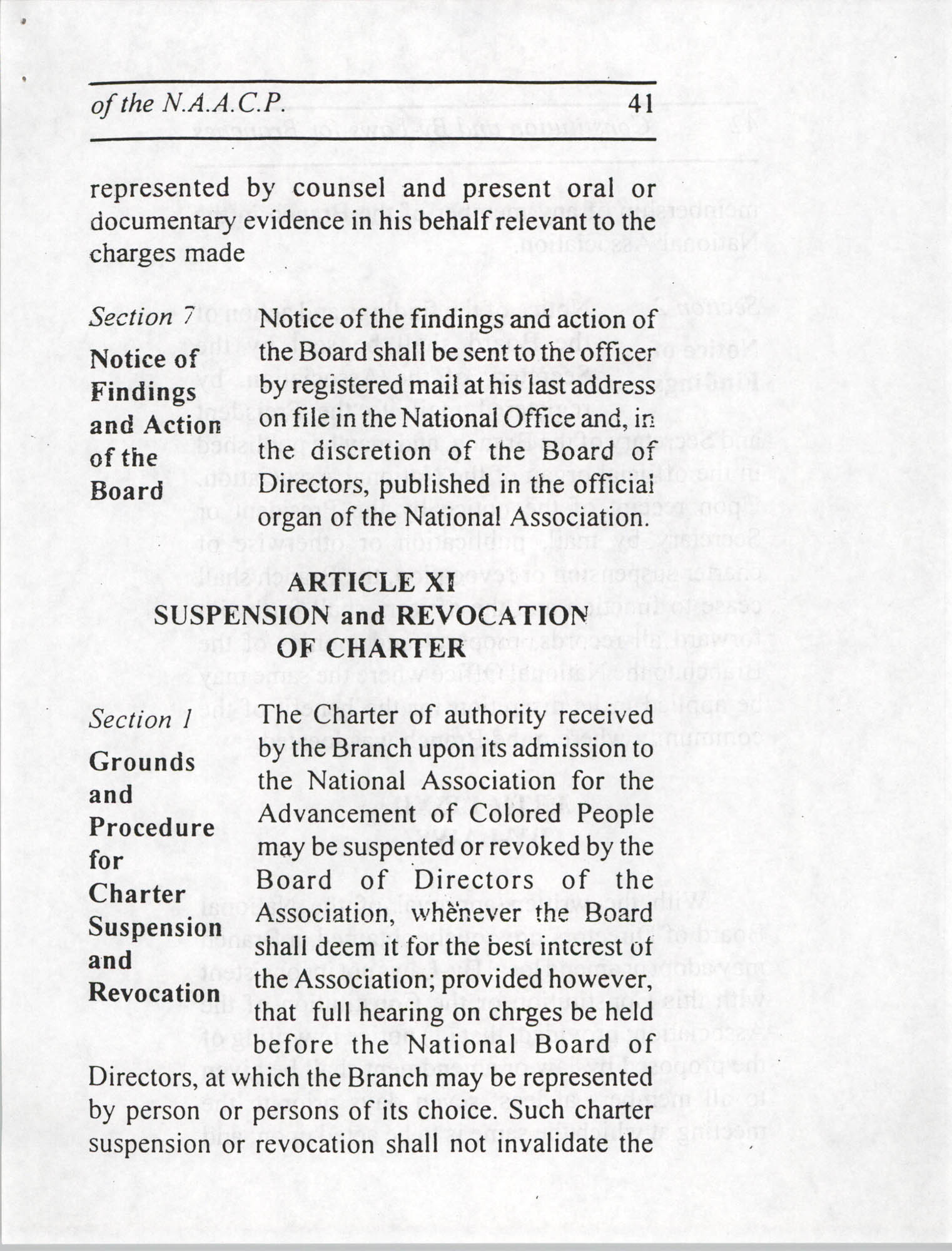 Constitution and By-Laws for Branches of the NAACP, July 1994, Page 41