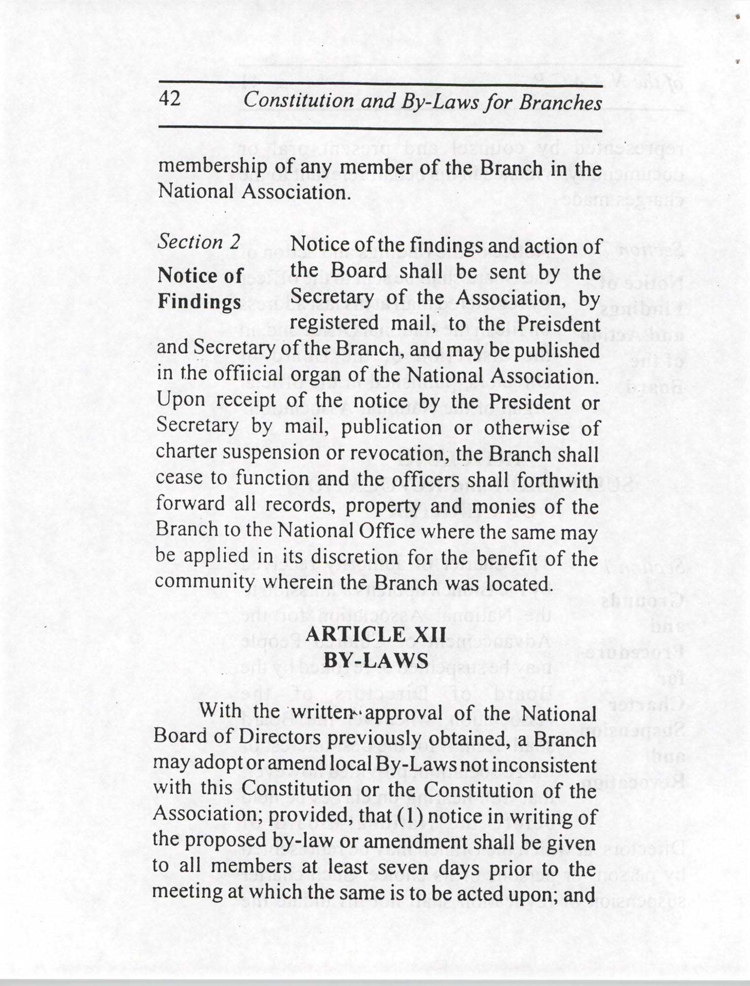 Constitution and By-Laws for Branches of the NAACP, July 1994, Page 42