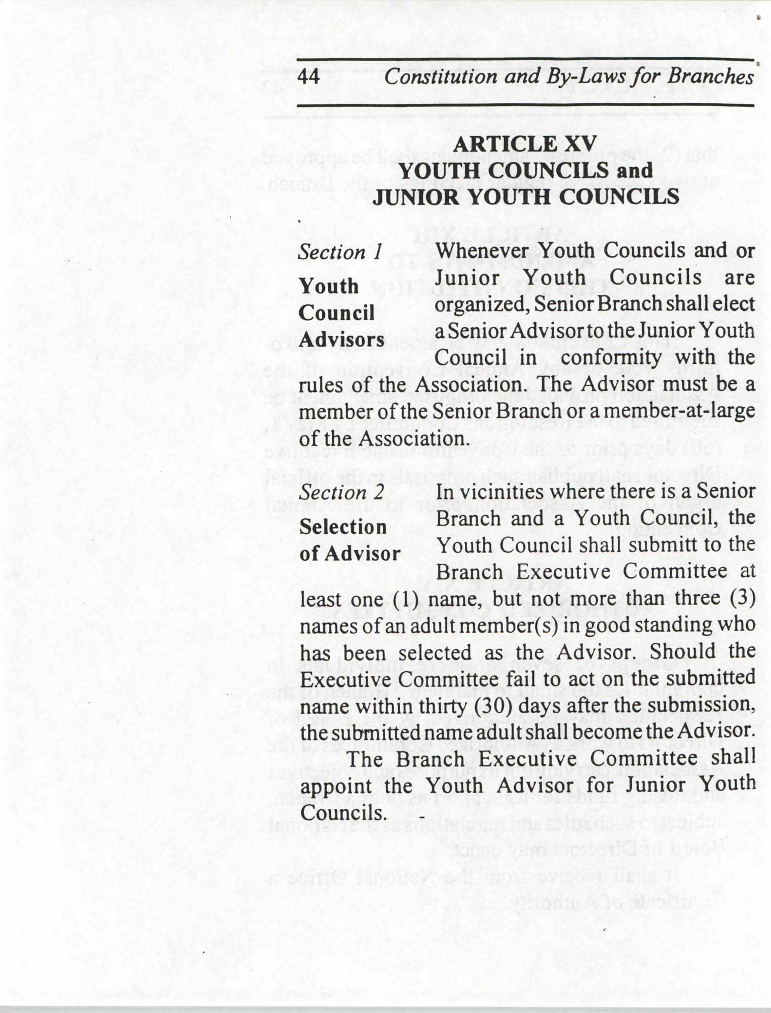 Constitution and By-Laws for Branches of the NAACP, July 1994, Page 44
