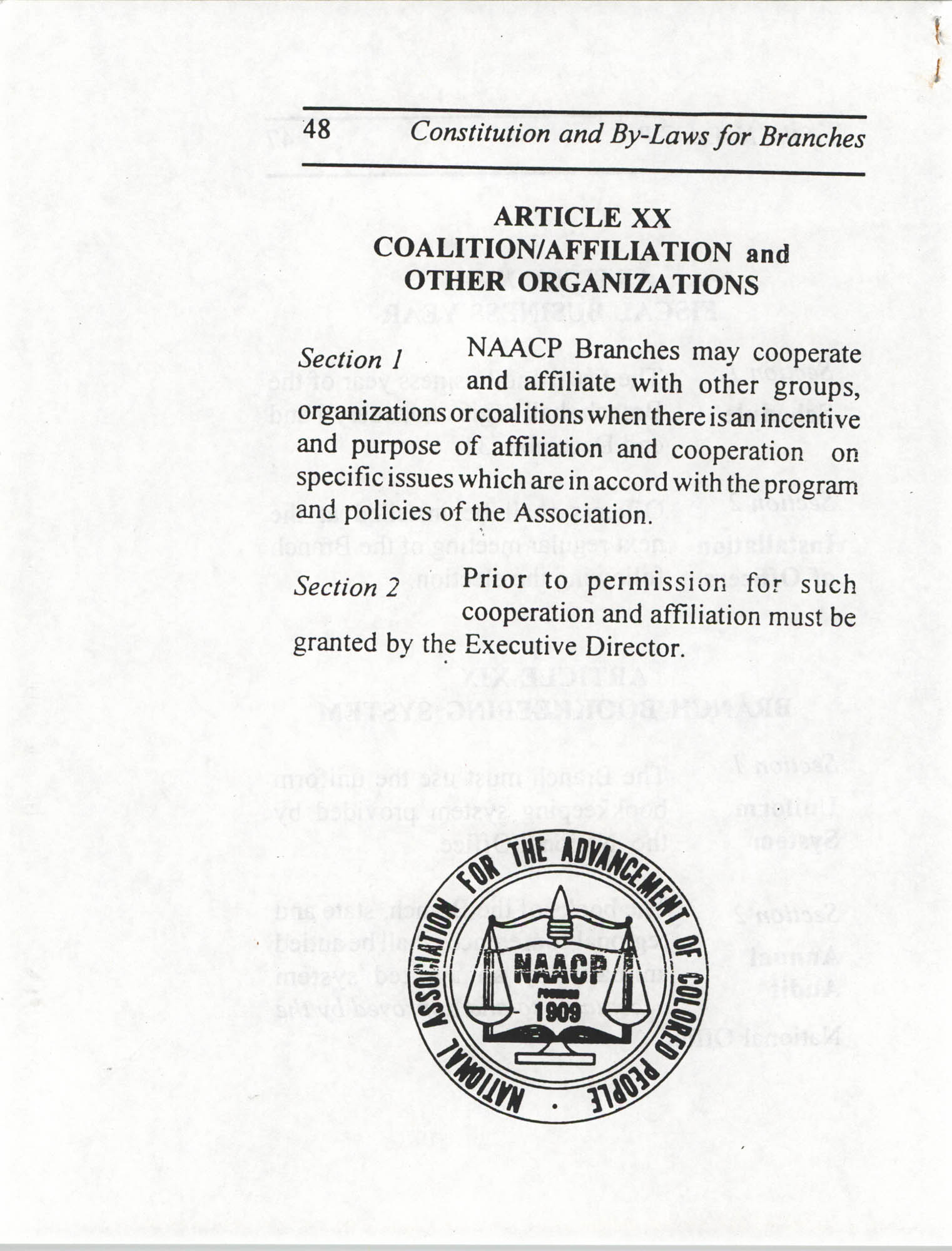 Constitution and By-Laws for Branches of the NAACP, July 1994, Page 48