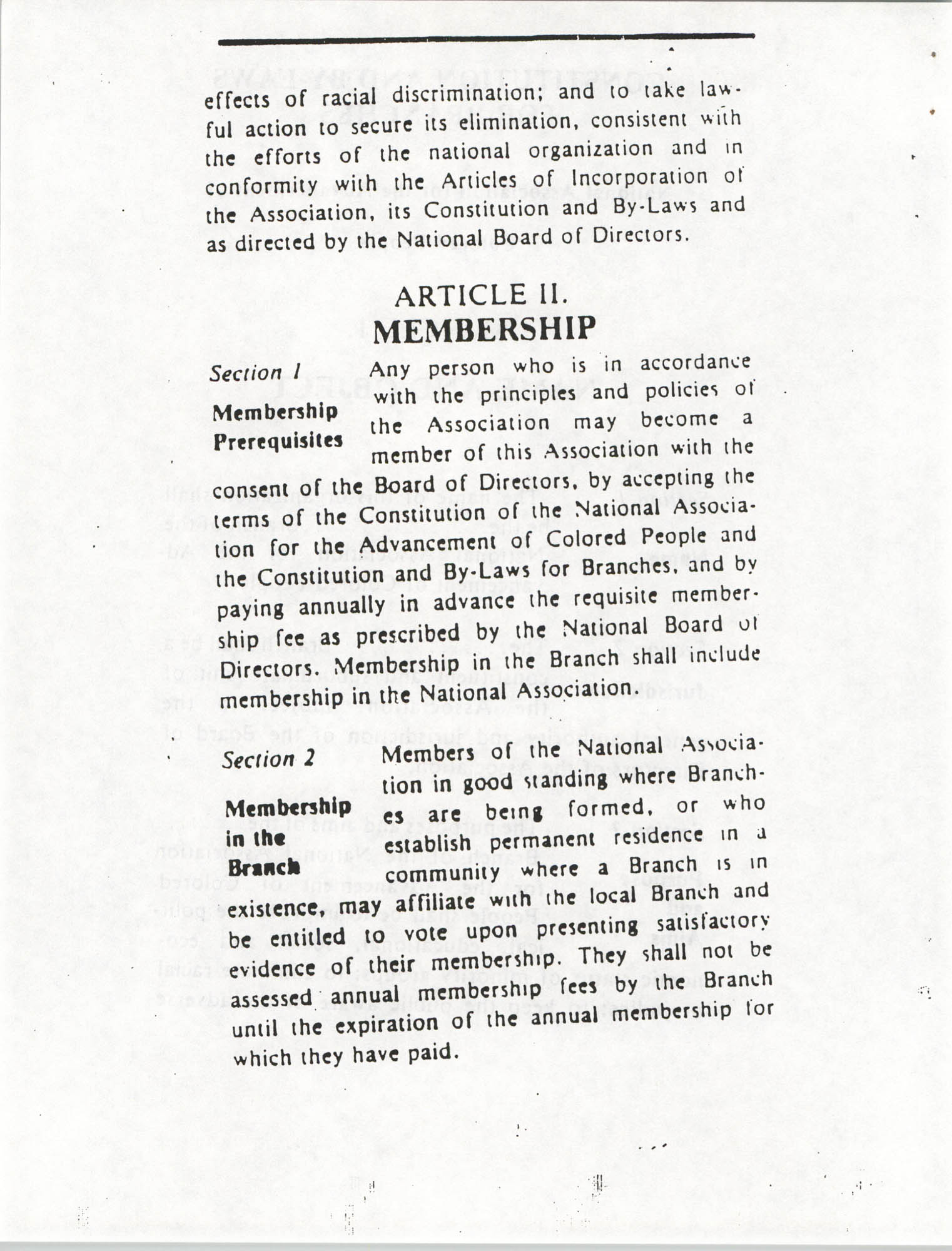 Constitution and By-Laws for Branches of the NAACP, March 1992, Page 4