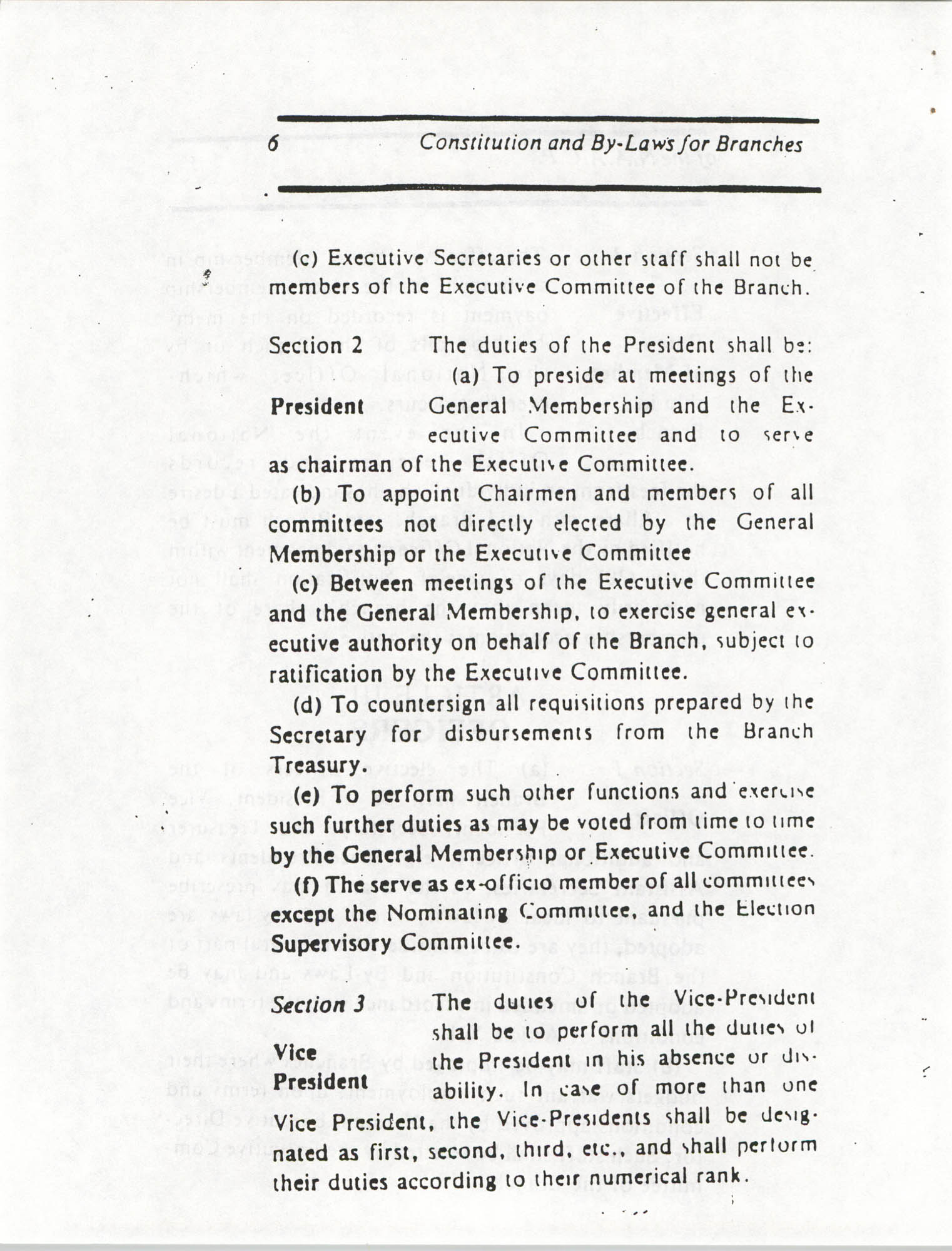 Constitution and By-Laws for Branches of the NAACP, March 1992, Page 6