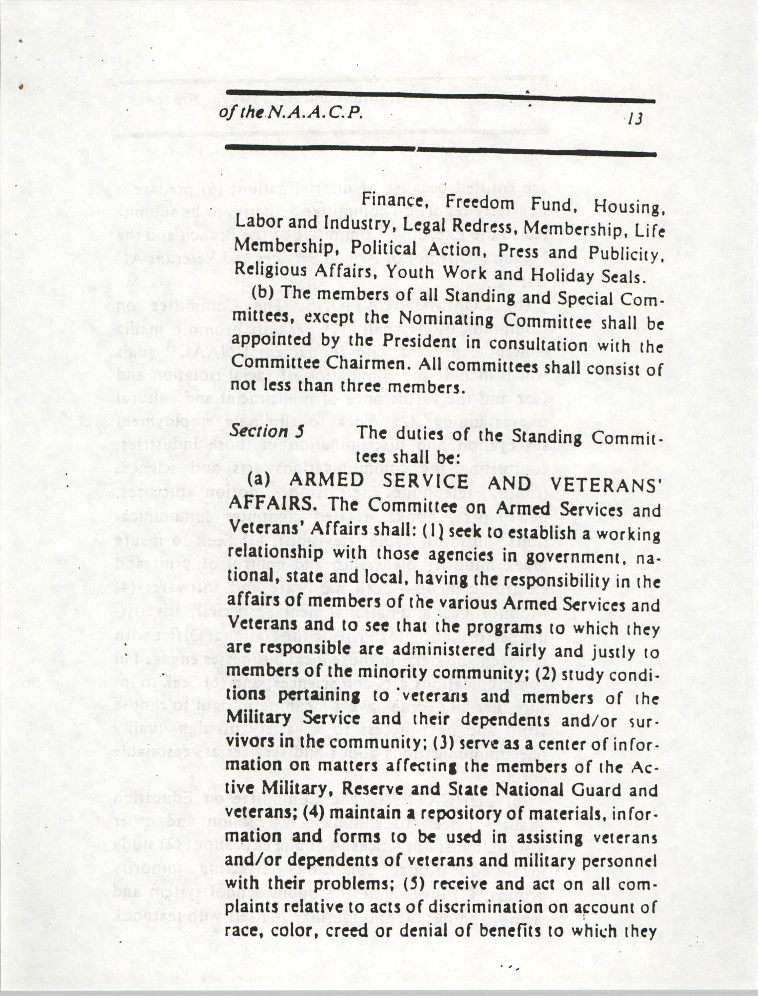 Constitution and By-Laws for Branches of the NAACP, March 1992, Page 13