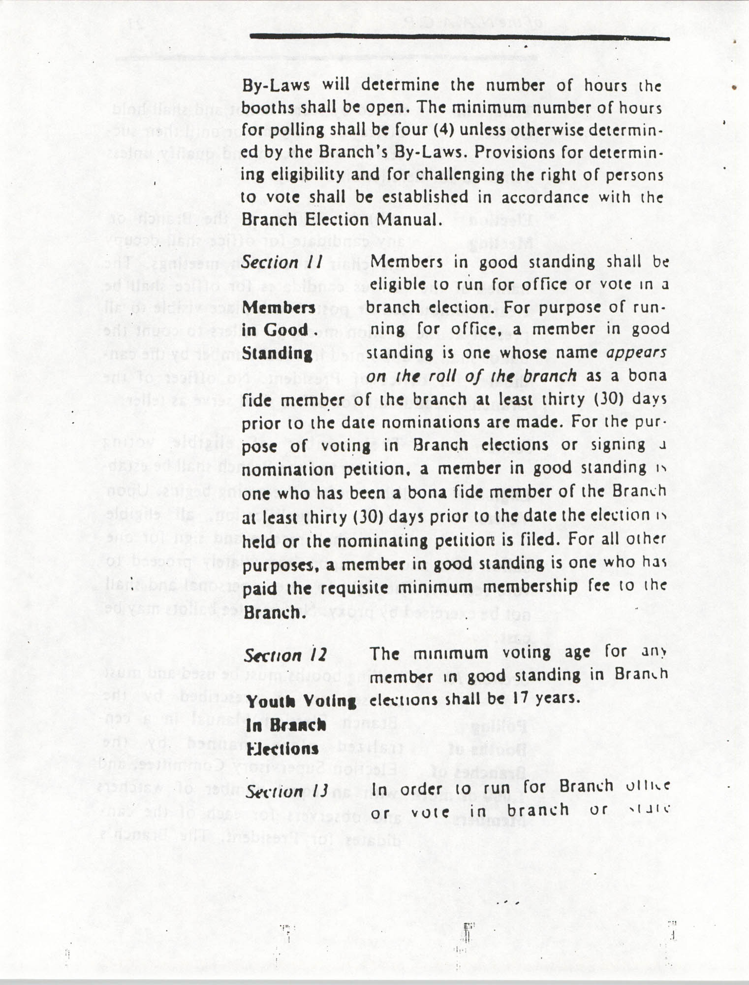 Constitution and By-Laws for Branches of the NAACP, March 1992, Page 24