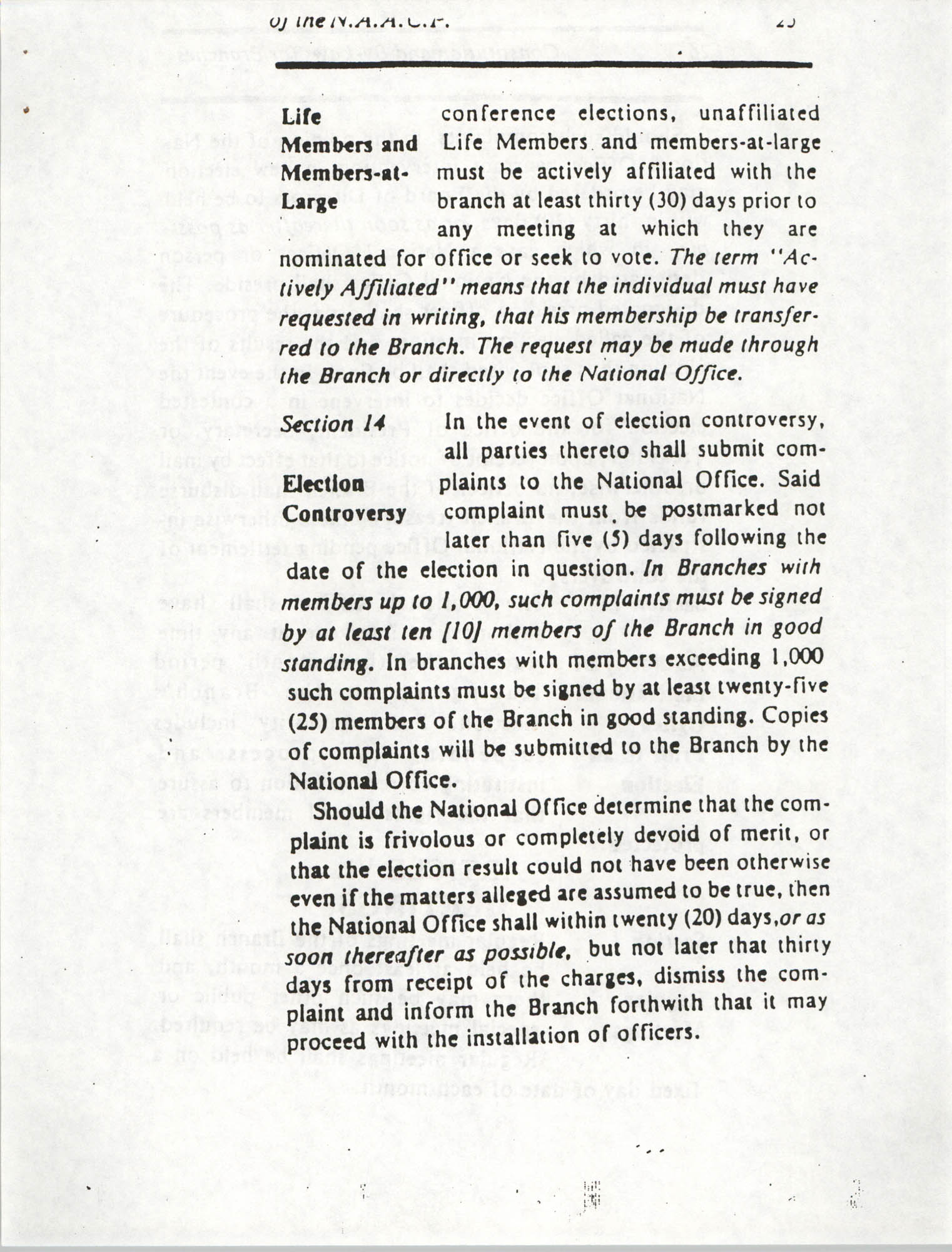 Constitution and By-Laws for Branches of the NAACP, March 1992, Page 25