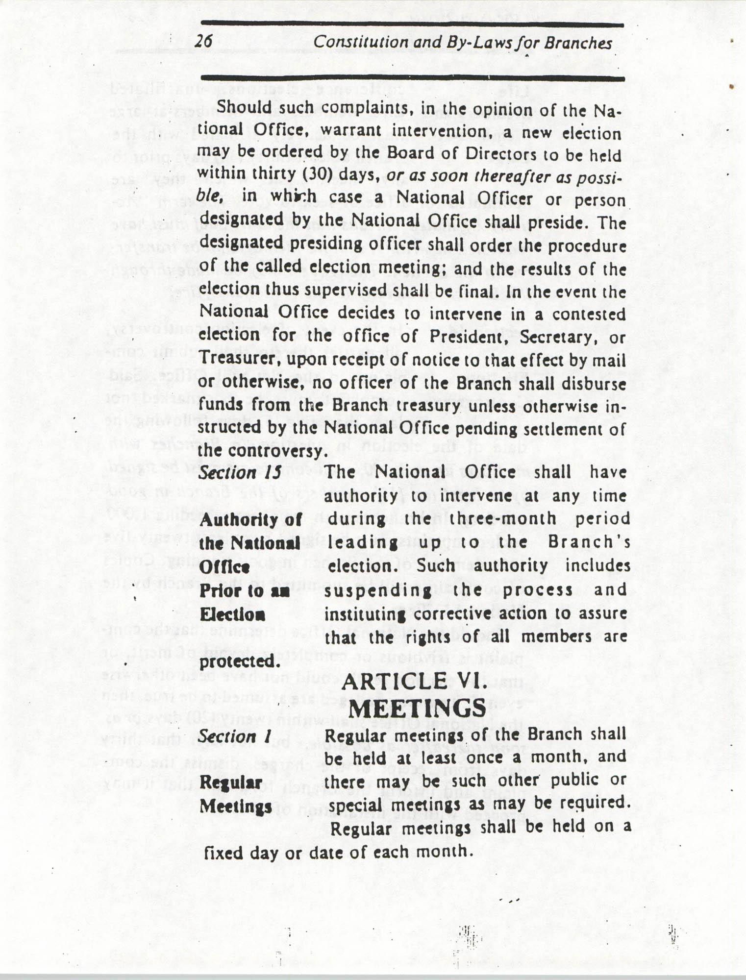 Constitution and By-Laws for Branches of the NAACP, March 1992, Page 26