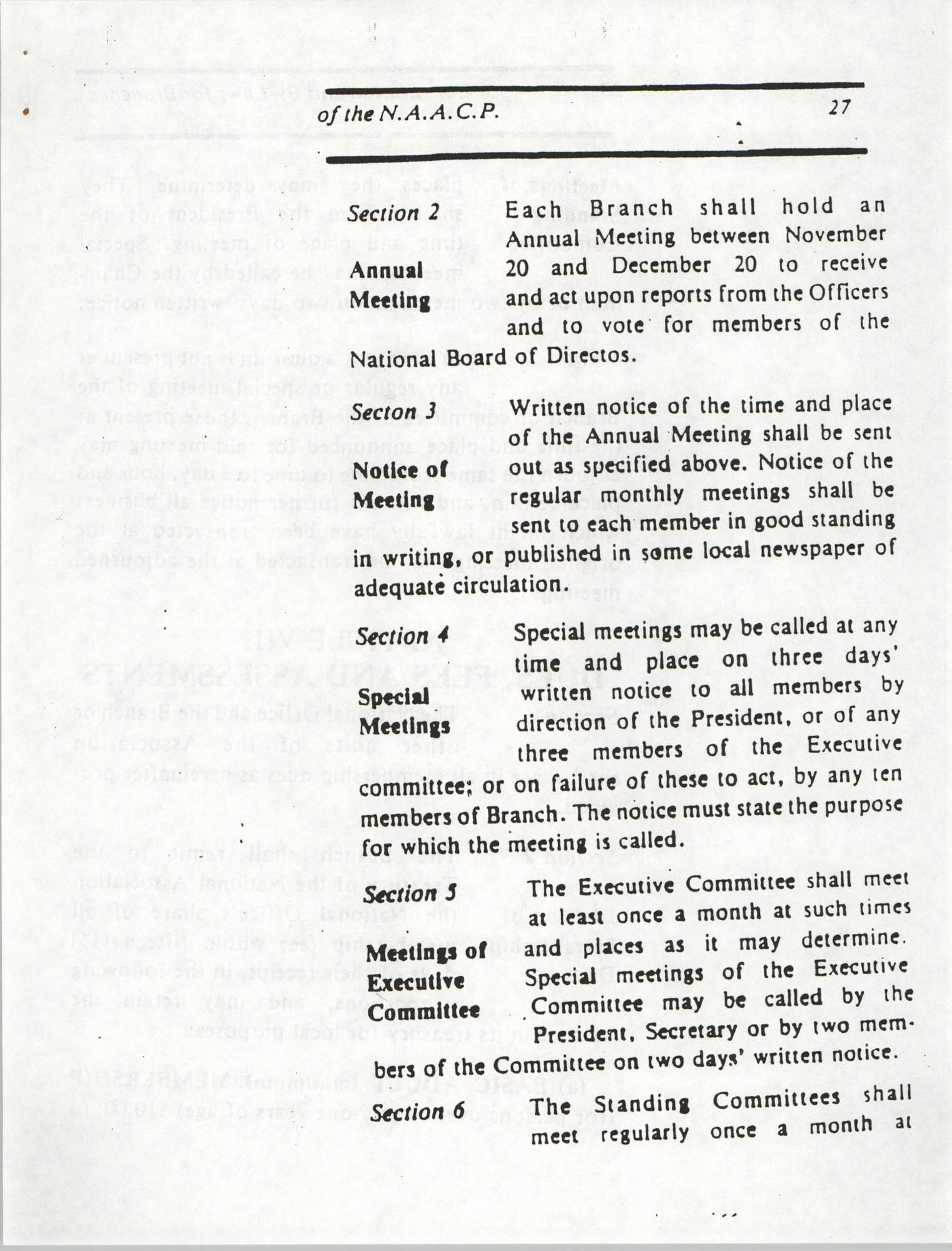 Constitution and By-Laws for Branches of the NAACP, March 1992, Page 27