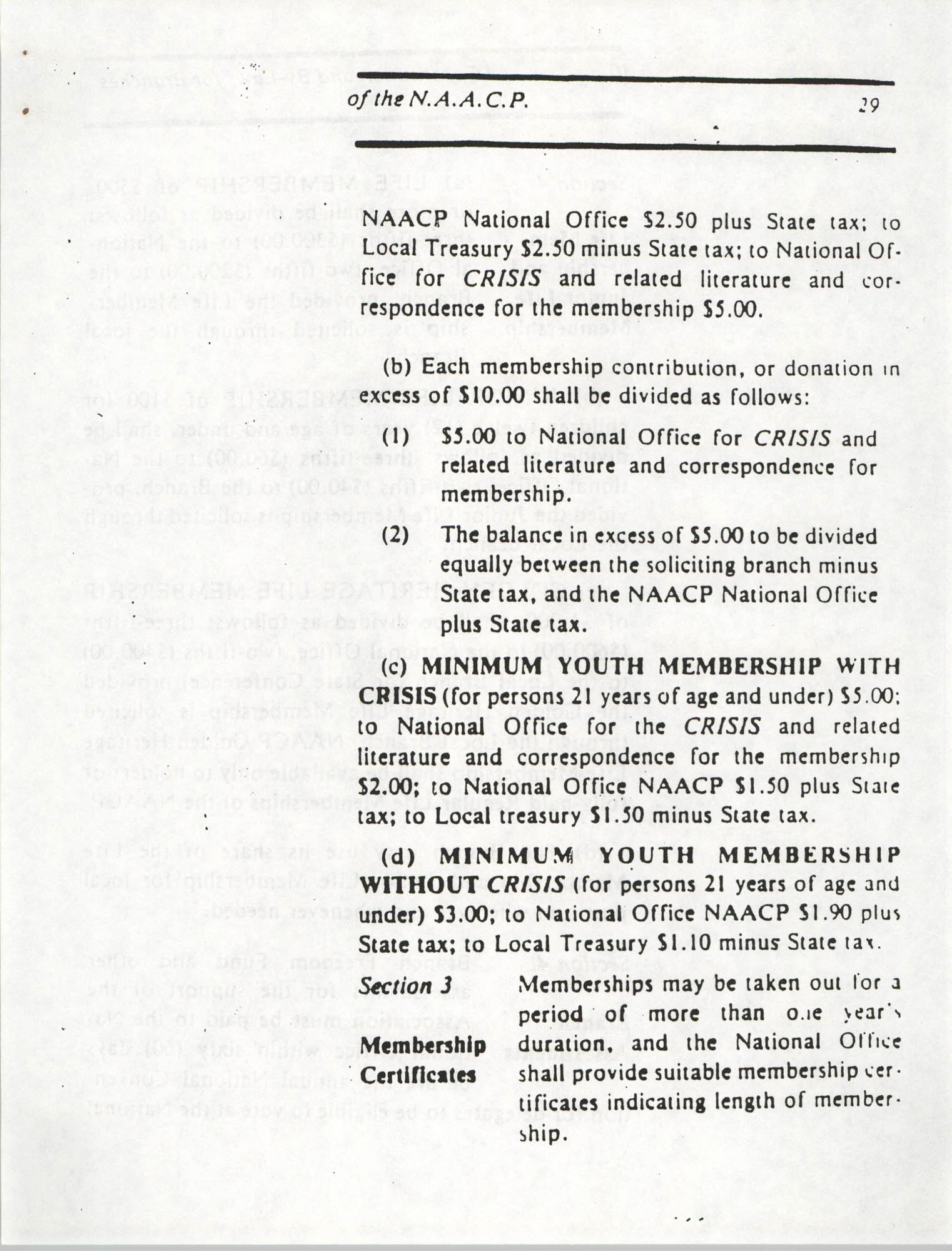 Constitution and By-Laws for Branches of the NAACP, March 1992, Page 29