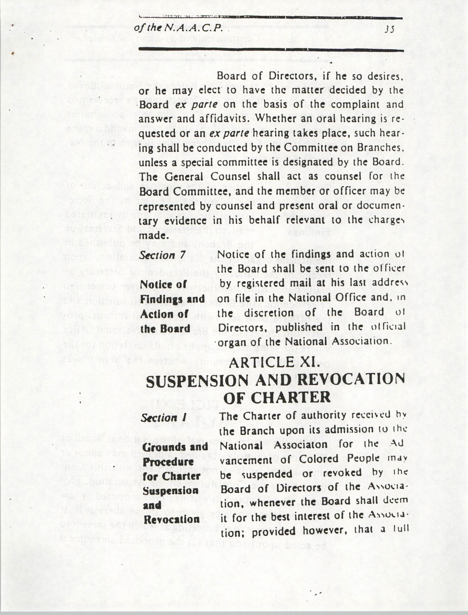 Constitution and By-Laws for Branches of the NAACP, March 1992, Page 35