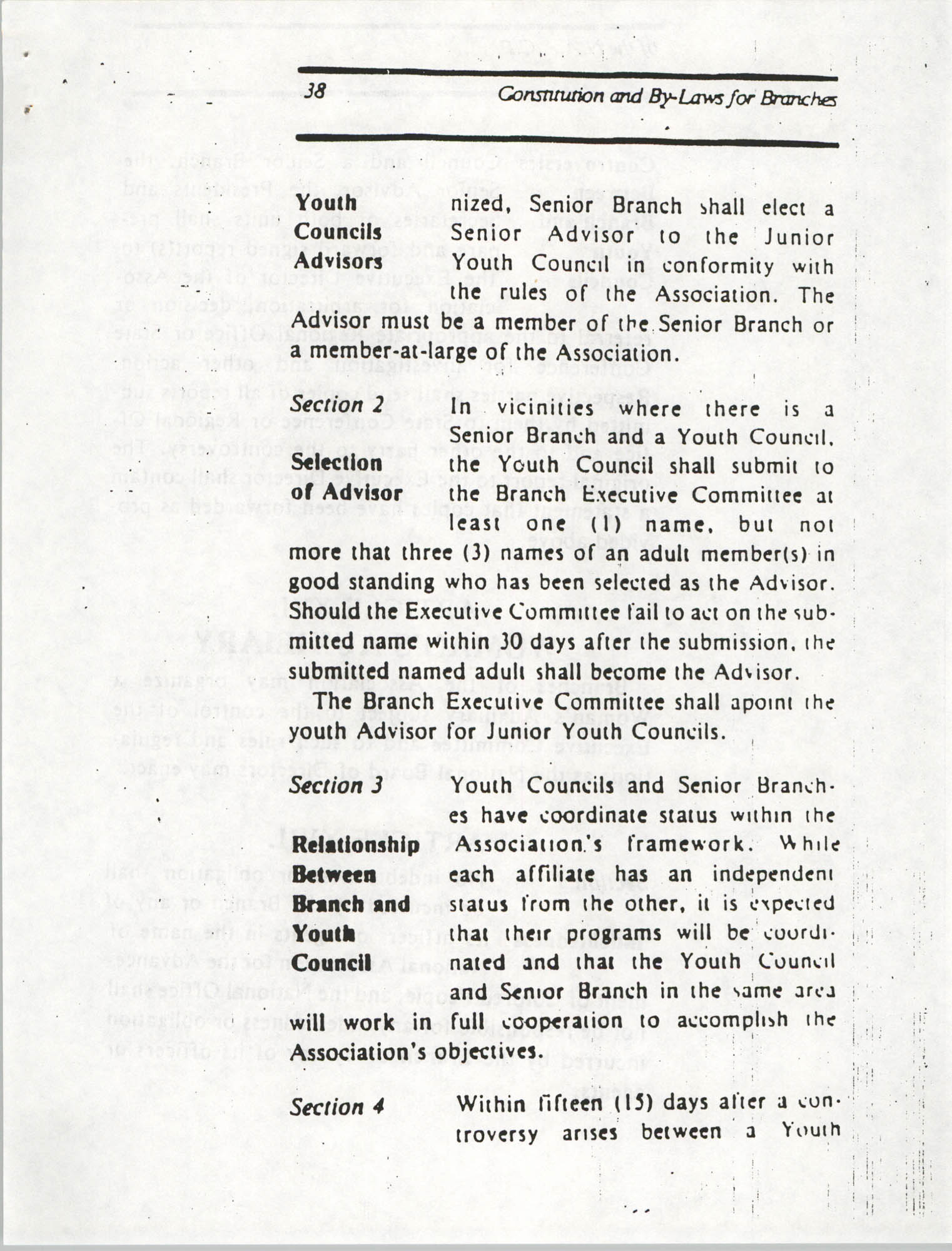 Constitution and By-Laws for Branches of the NAACP, March 1992, Page 38