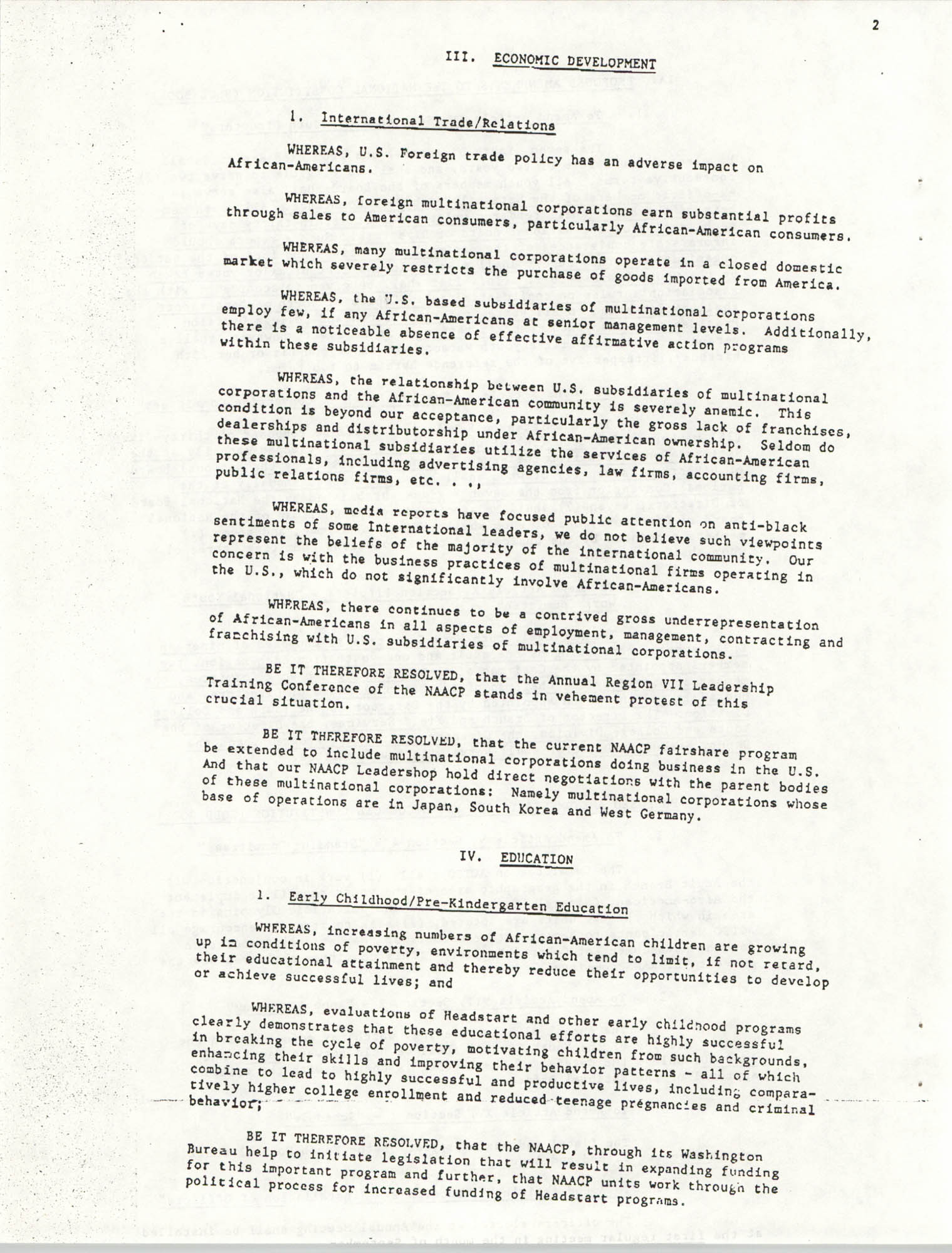 Resolutions Submitted Under Article X, Section 2 of the Constitution of the NAACP, Page 2