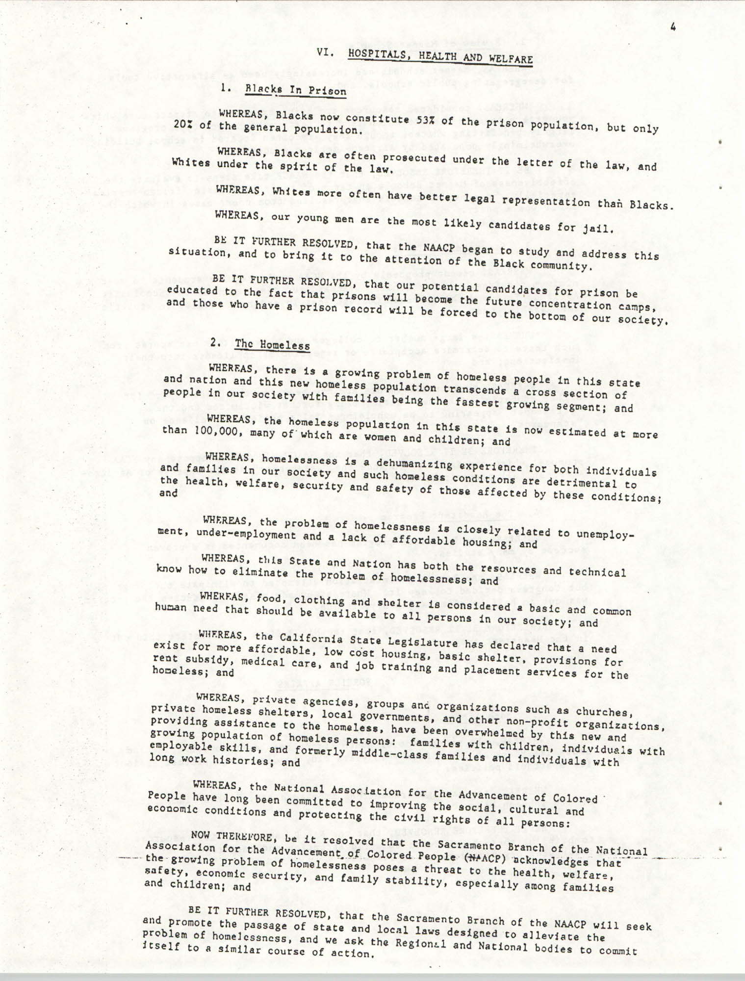 Resolutions Submitted Under Article X, Section 2 of the Constitution of the NAACP, Page 4