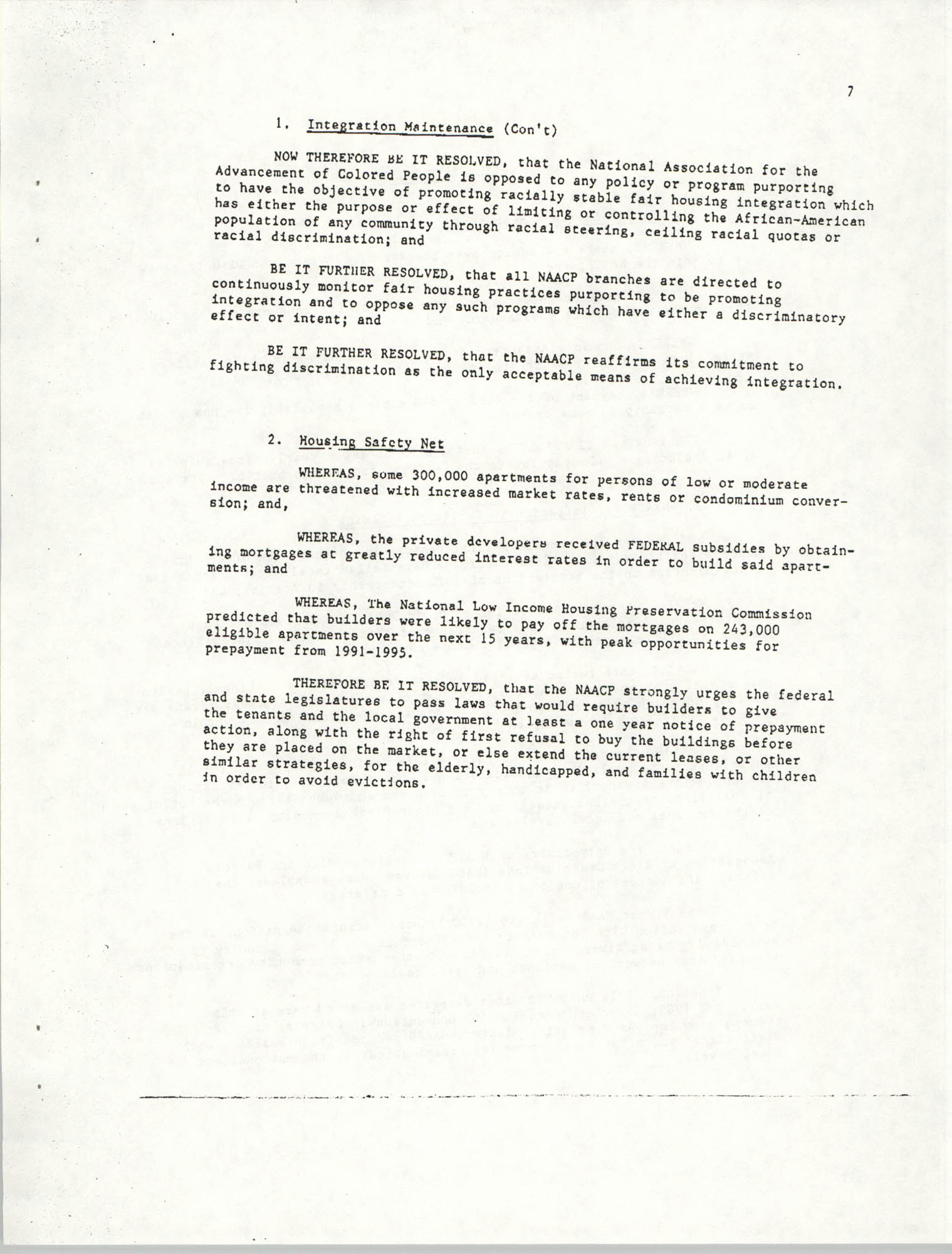 Resolutions Submitted Under Article X, Section 2 of the Constitution of the NAACP, Page 7